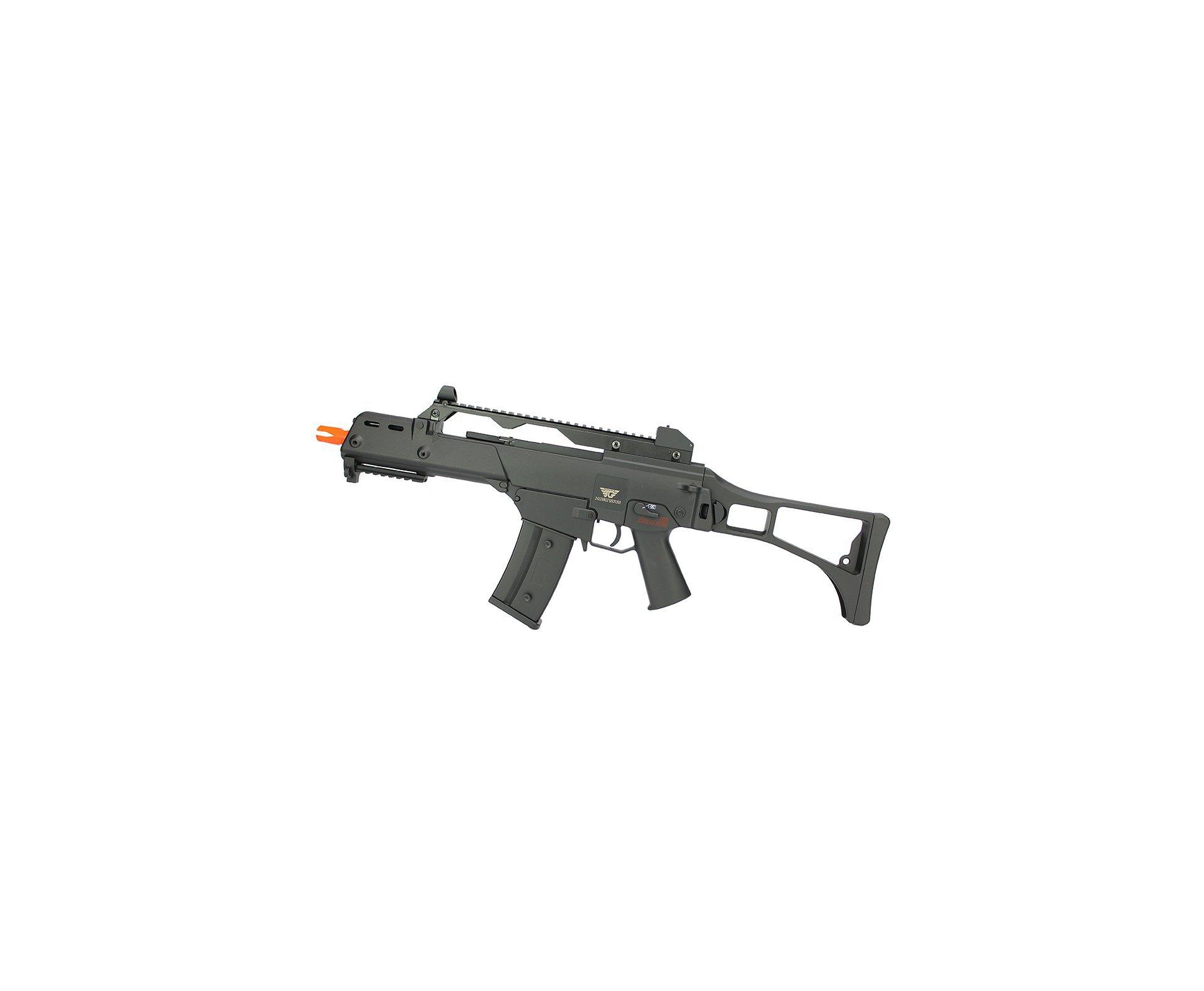 Rifle De Airsoft Aeg G36 Cal 6mm G608-0638 Jing Gong + Capa Simples + 2x Bbs Raptor 0,28g 2000uni