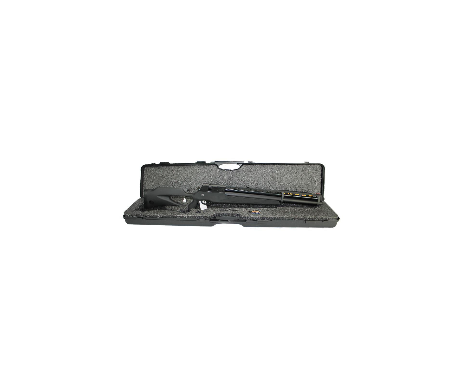 Carabina De Pressão Pcp Rossi R8 Black 5,5mm 8 Tiros 350 M/s + Bomba Pneumatica
