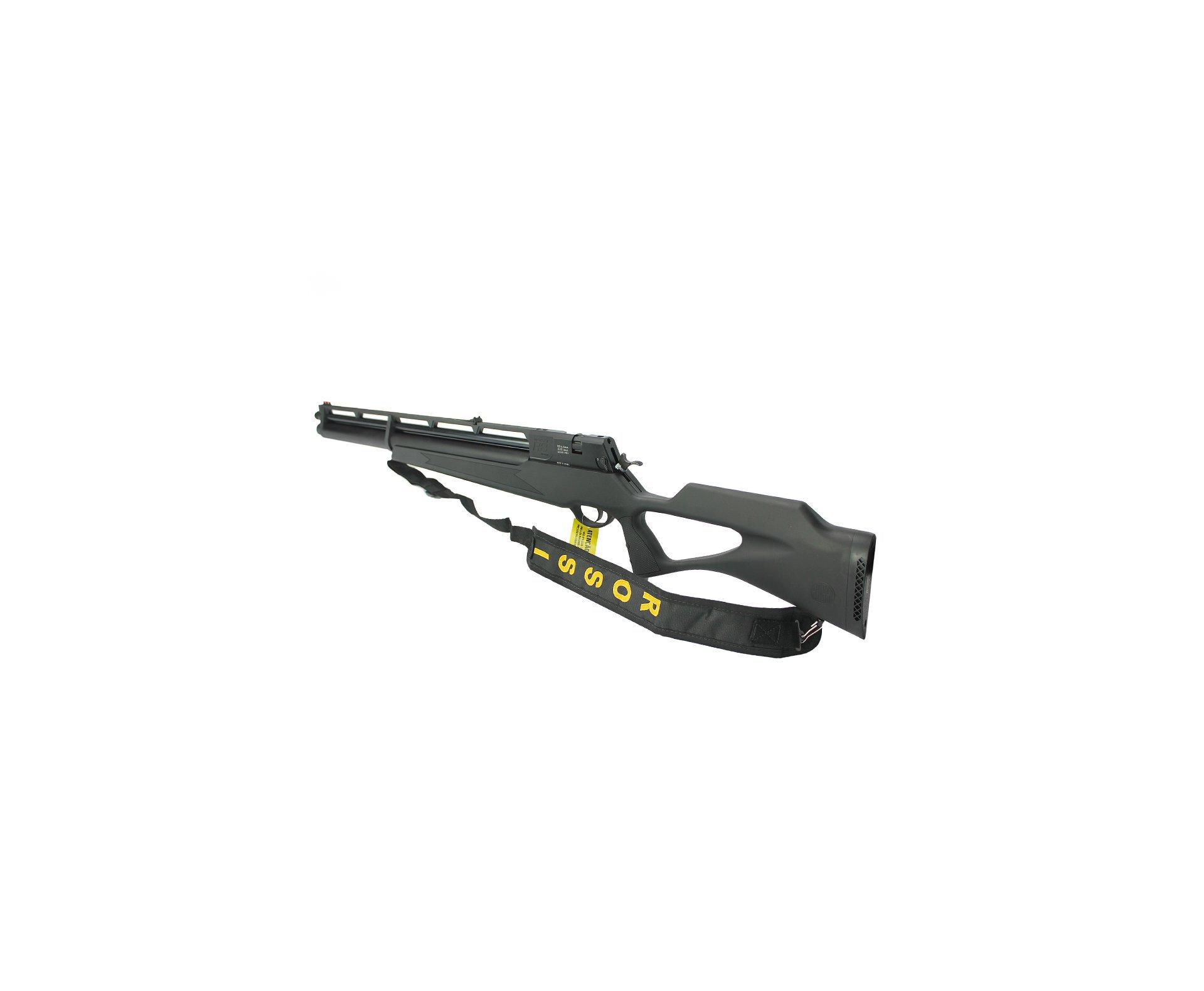 Carabina De Pressão Pcp Rossi R8 Black 5,5mm 8 Tiros 350 M/s + Bomba Pneumatica + Luneta 4-16x50