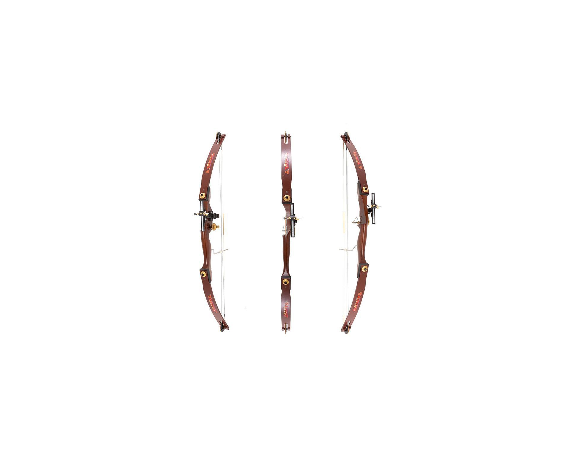 Arco Composto 36 Libras Riser Madeira Marrom (canhoto) Junxing