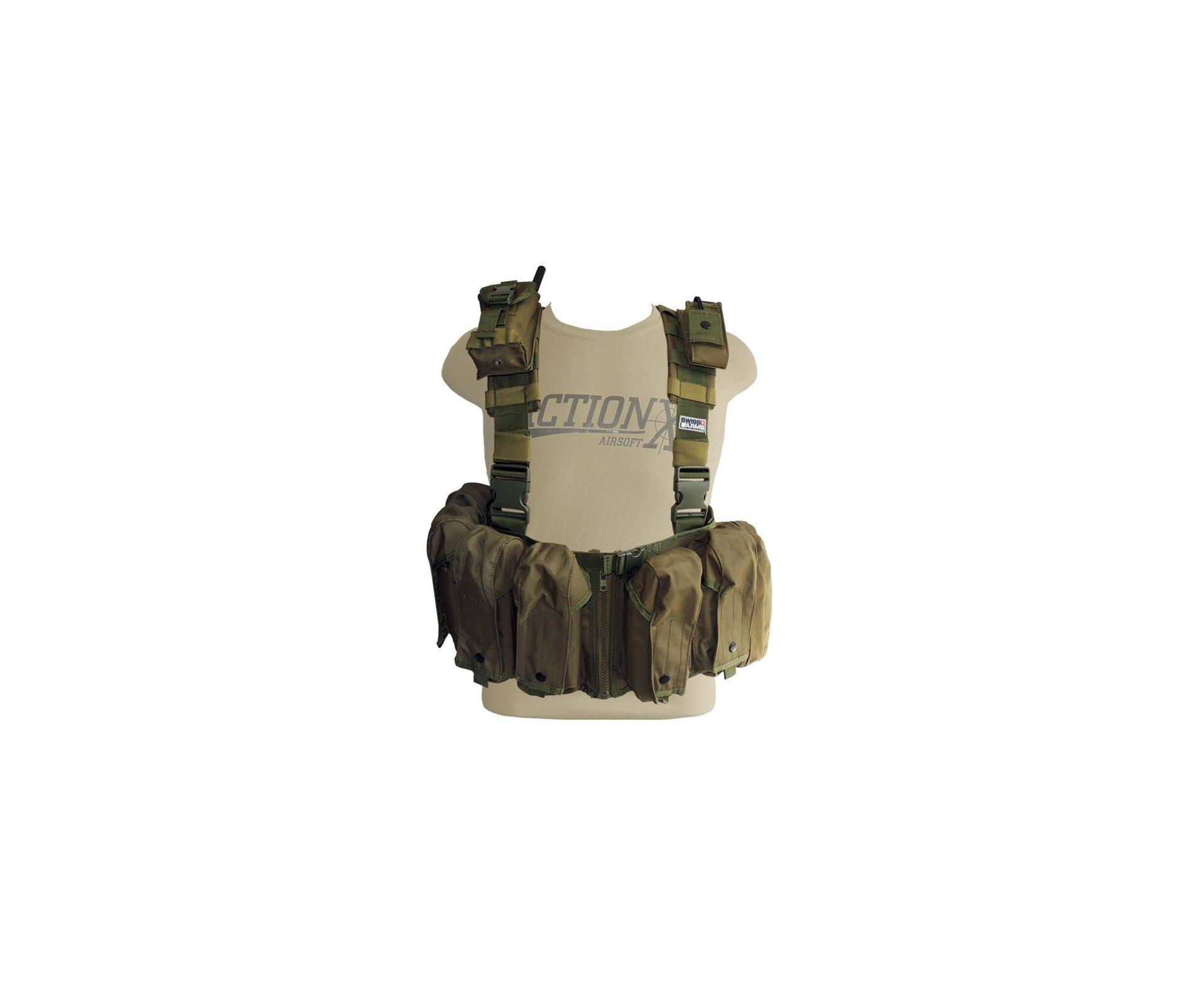 Colete De Combate Verde Chest Rack - Swiss Arms