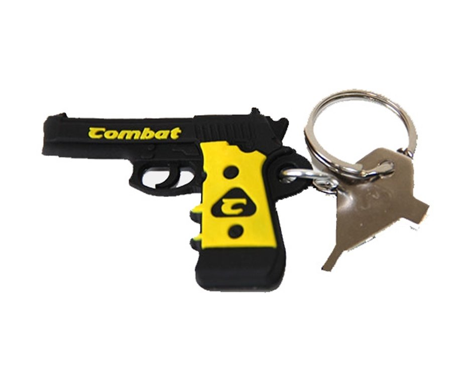 Chaveiro Pistola Preto Multiuso - Combat