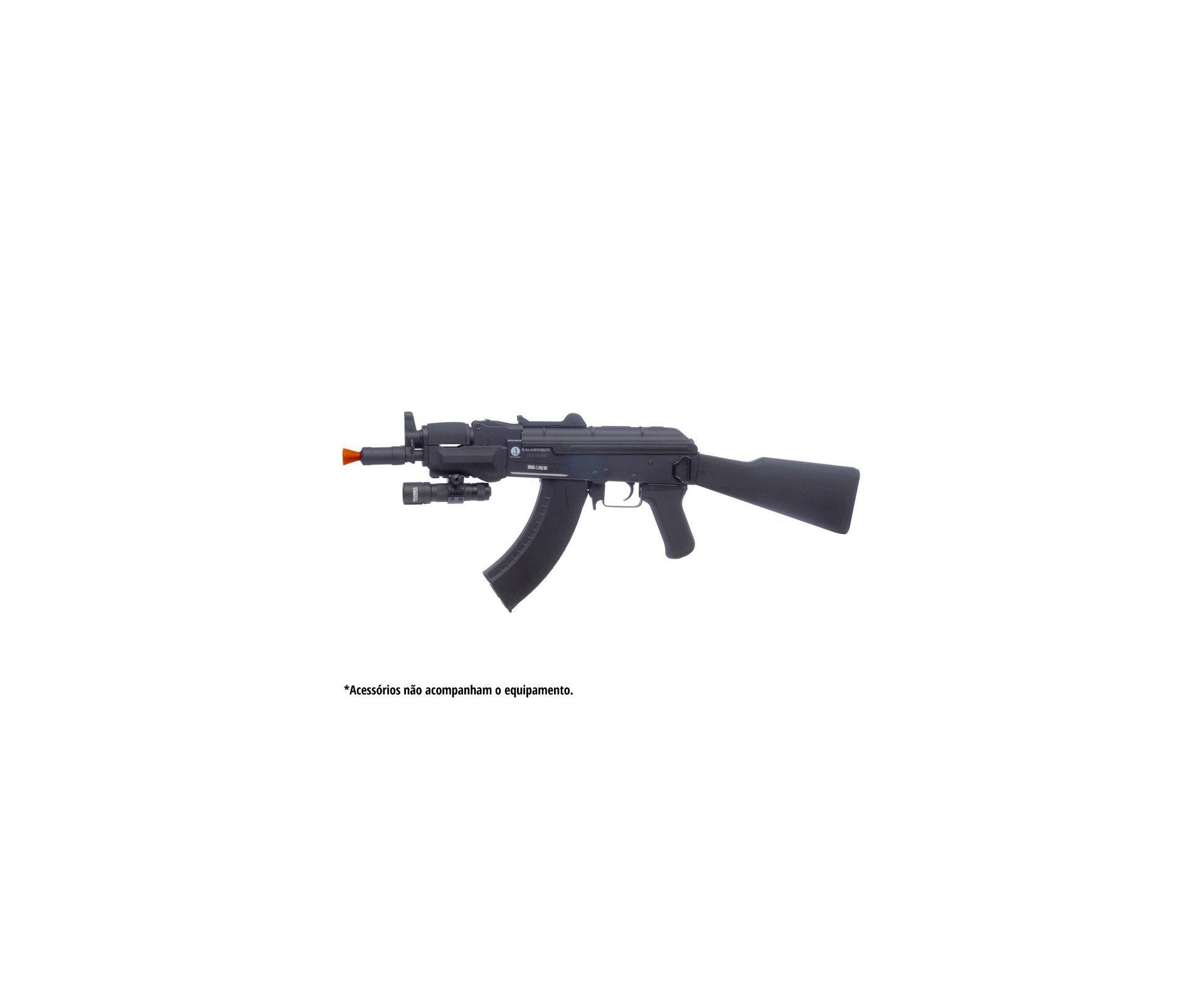 Rifle De Airsoft Spetsnaz Full Metal + Colete Chast Rack Preto + Capa