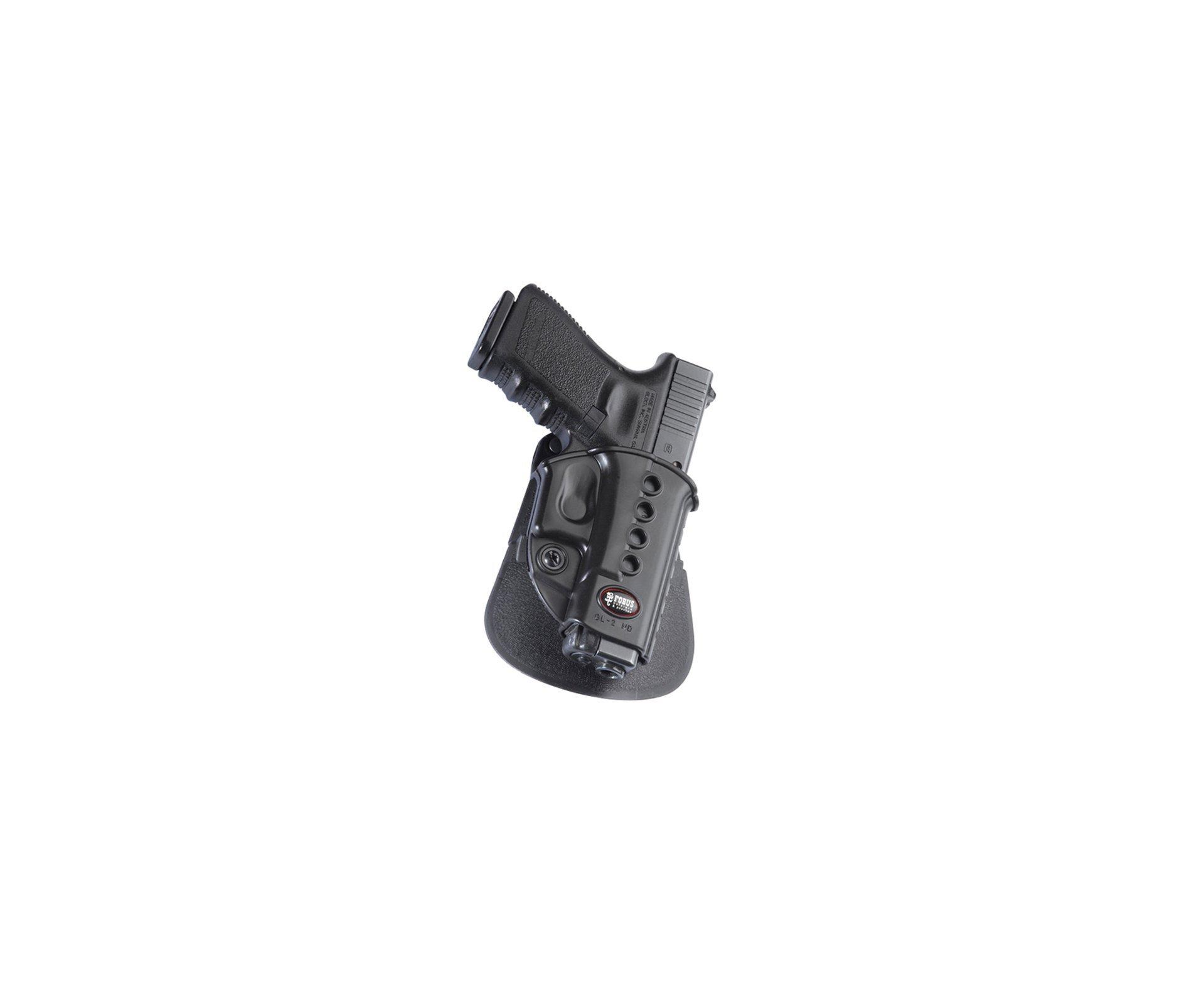 Coldre Fobus De Polimero Para Glock 17/19/22/23/25/34/35 Rotativo