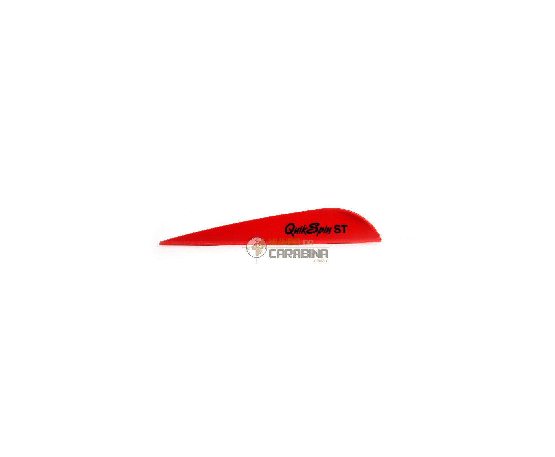 Pena Em Nylon Nap Quik Spin 3.13 Vermelho - Pacote Com 36 Unidades