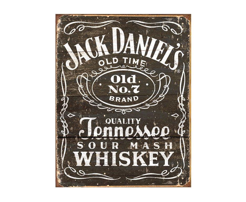 Placa Metálica Decorativa Jack Daniels - Rossi