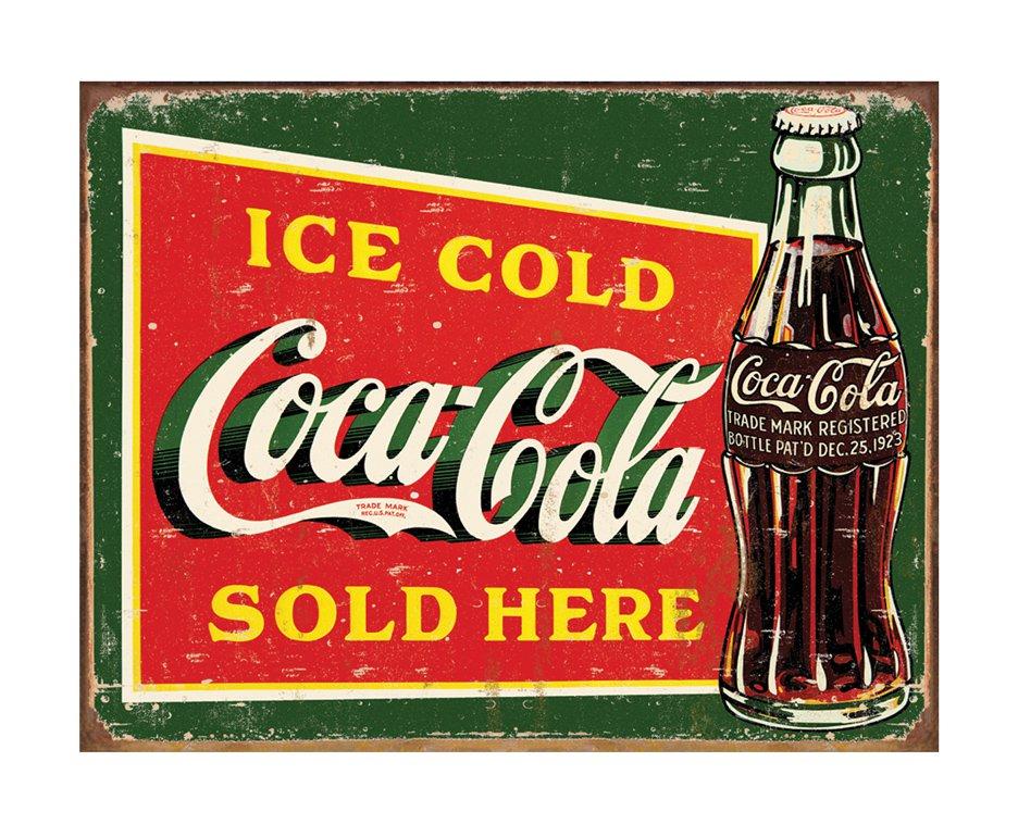 Placa Metálica Decorativa Ice Cold Coke 1 - Rossi