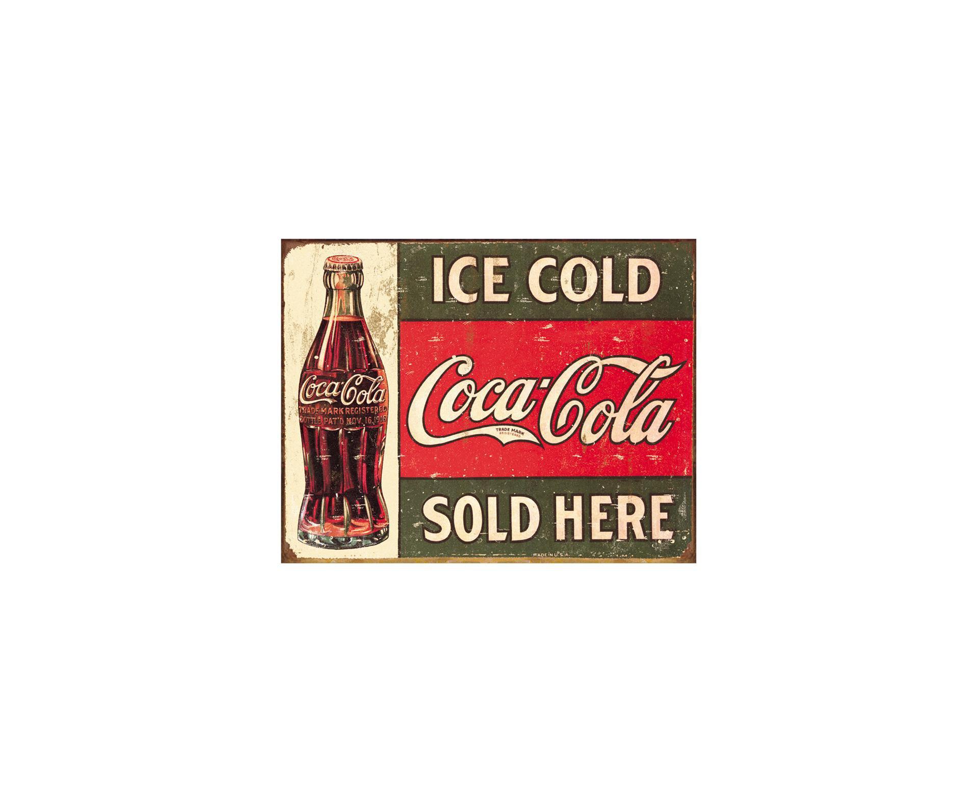 Placa Metálica Decorativa Ice Cold Coke 2 - Rossi