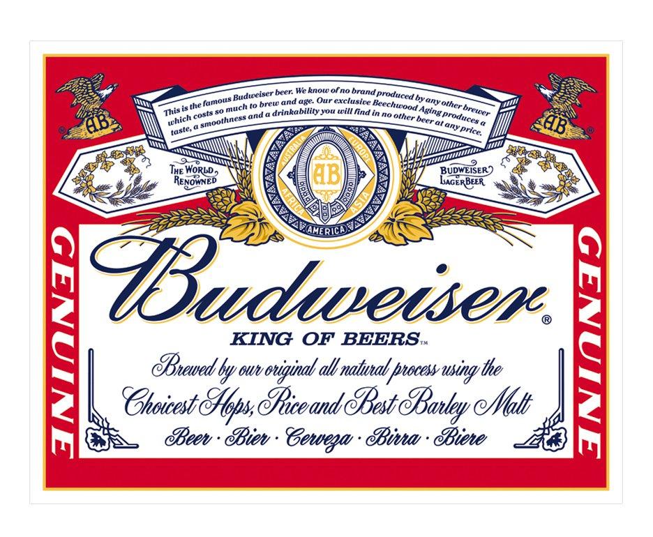 Placa Metálica Decorativa Budweiser - Rossi