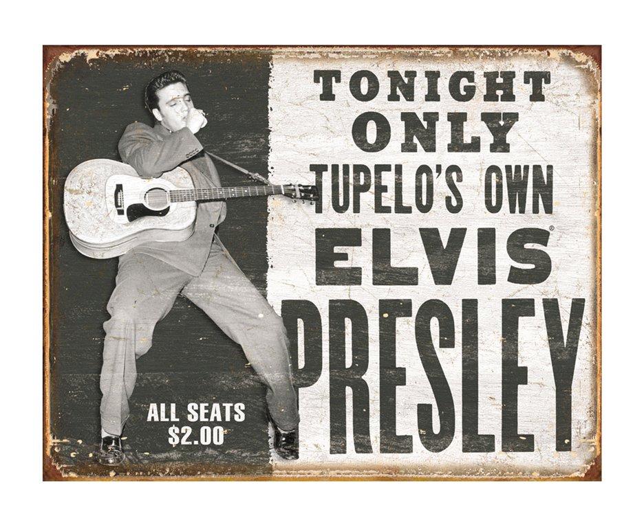 Placa Metálica Decorativa Elvis Tupelo's Own - Rossi