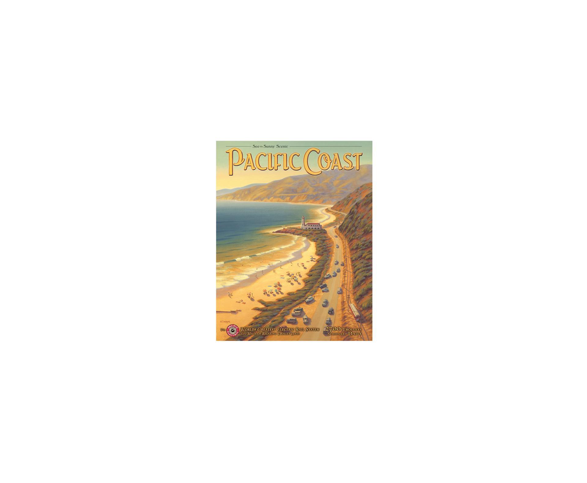 Placa Metálica Decorativa Pacific Coast - Rossi