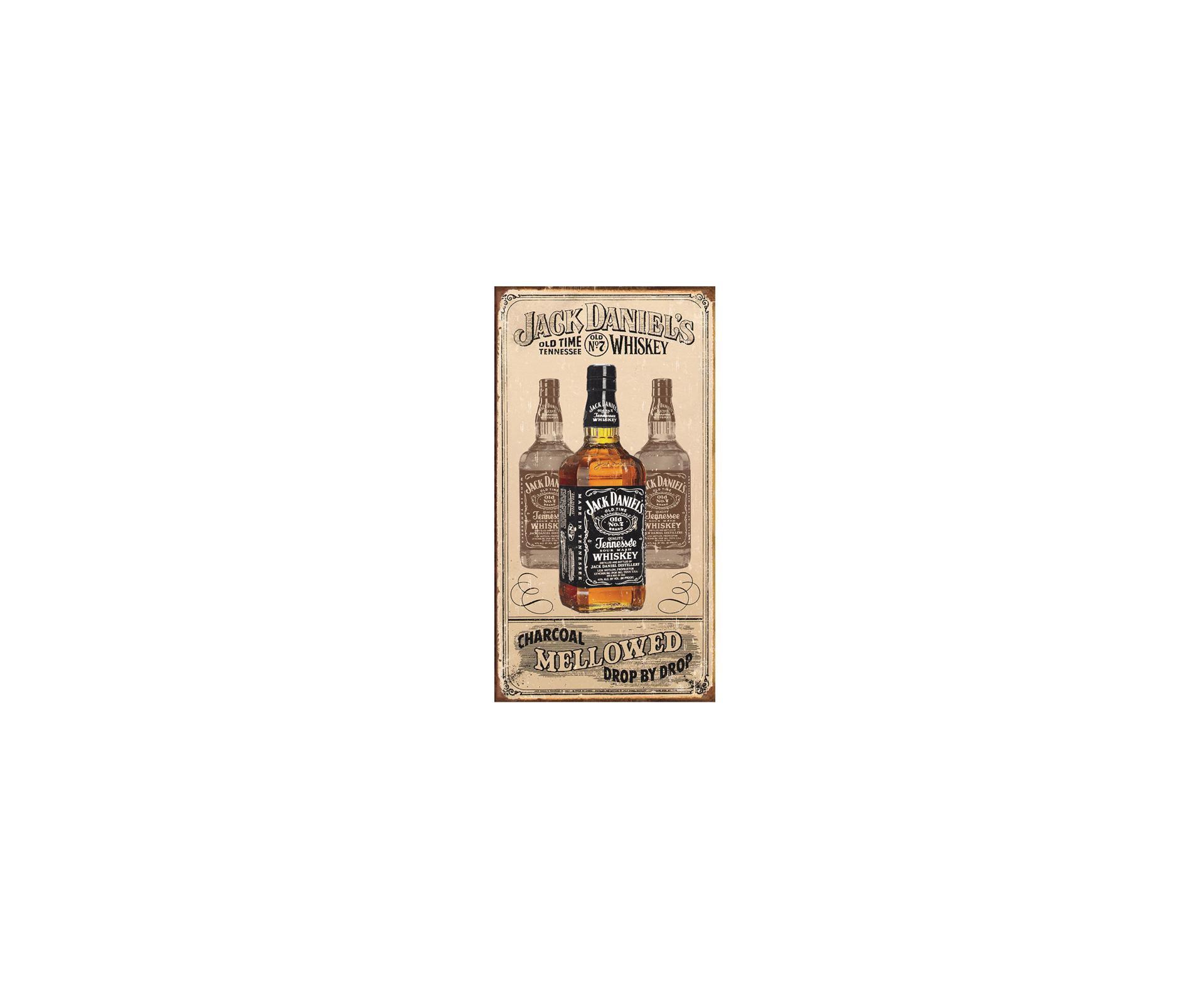 Placa Metálica Decorativa Jack Daniels Mellowed - Rossi