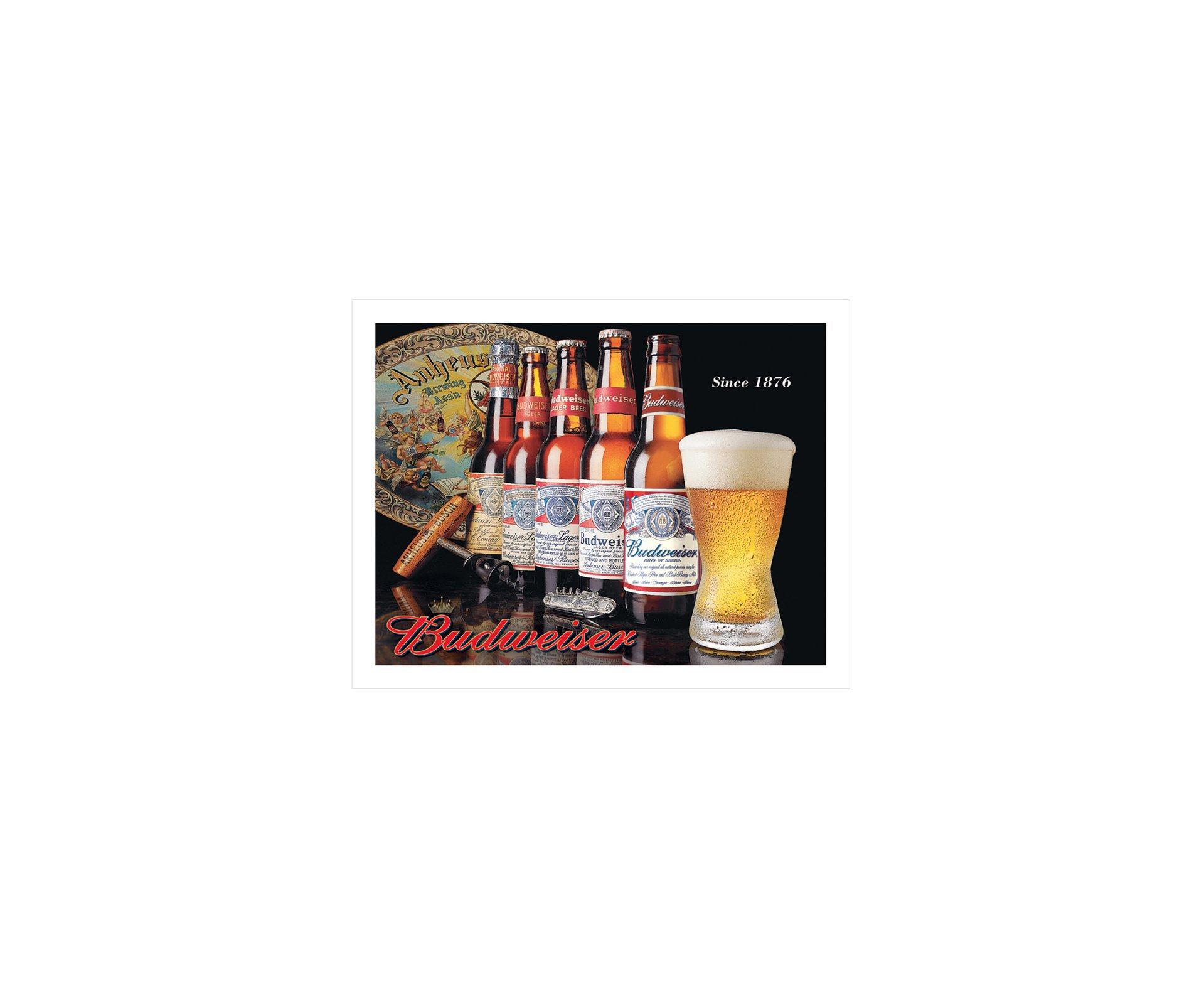 Placa Metálica Decorativa Budweiser Evolution - Rossi