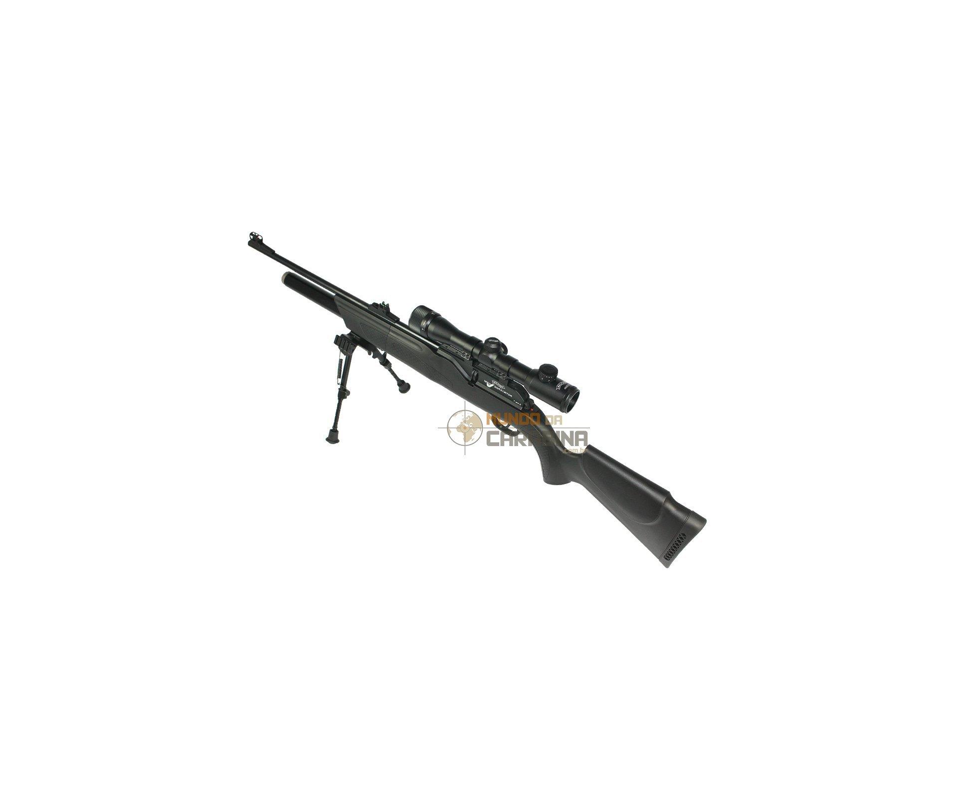 Carabina Pcp Dominator Ft 1250 Set Cal 5.5mm + Luneta 4x32ci + Bipe - Walther