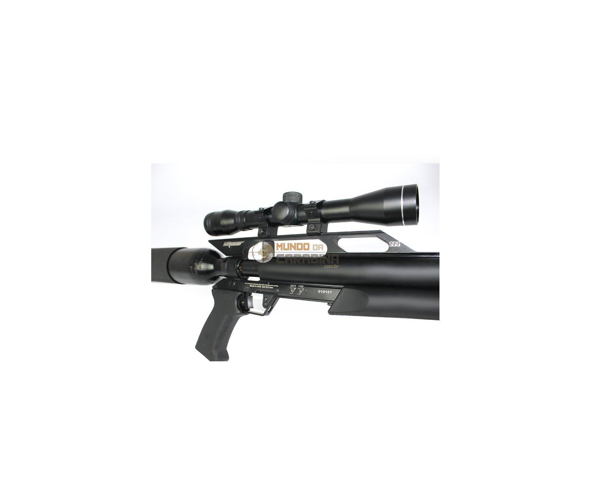 Rifle Pcp Gunpower Sss + Luneta 4x32 + Case Buffalo + Supressor + Bipé + Bandoleira Cal 5,5mm