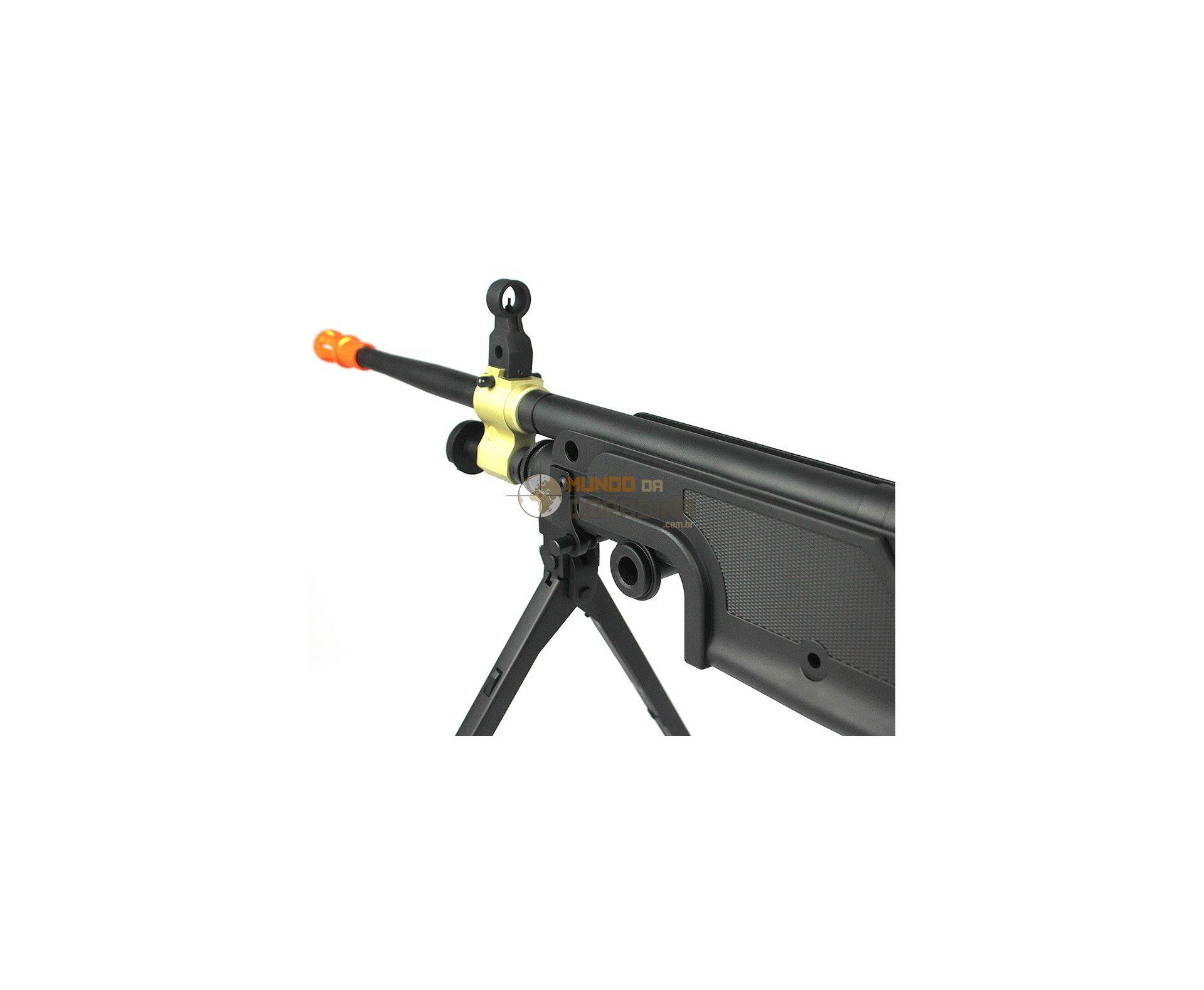 Rifle De Airsoft M249 Mk1 Full Metal Elétrica 6mm - A&k
