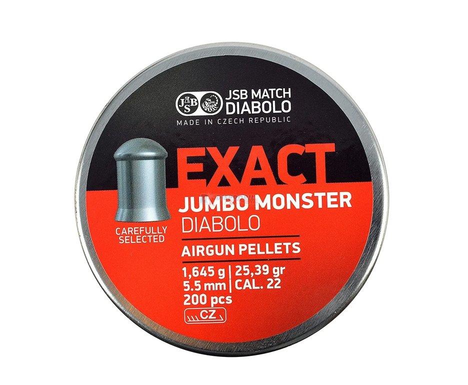 Chumbinho Jumbo Exact Monster Diabolo Cal 5,5 Mm - 200 Unidades - Jsb