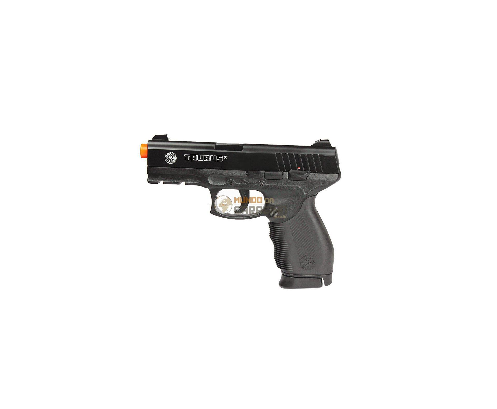 Pistola De Airsoft Pt 24/7 Semi/metal + 4000 Esferas 0,12g + Capa Almofada - Cyber Gun