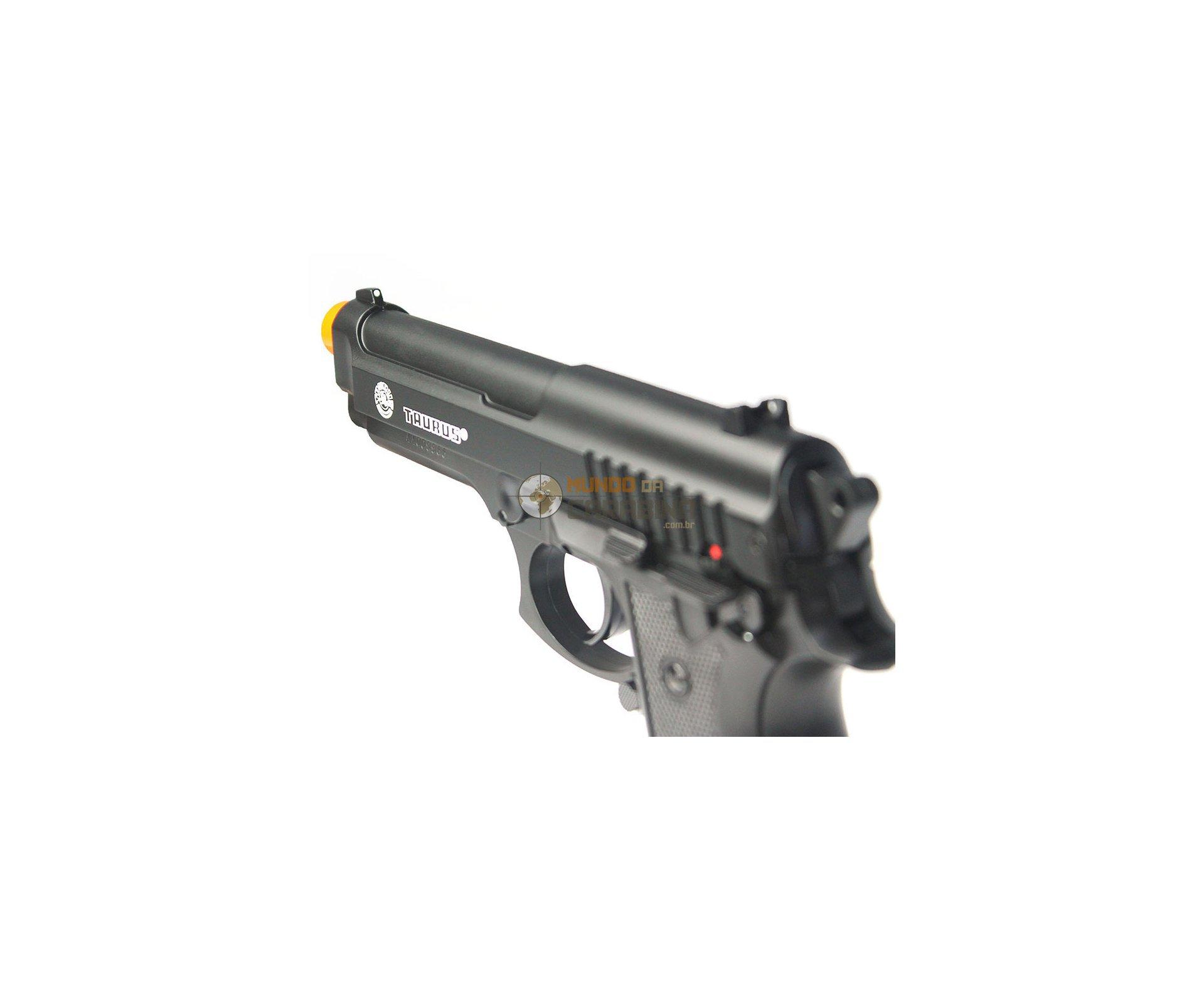 Pistola De Airsoft Taurus Pt 92 Slide Metal + 4000 Esferas 0,12g + Capa Almofada - Cyber Gun