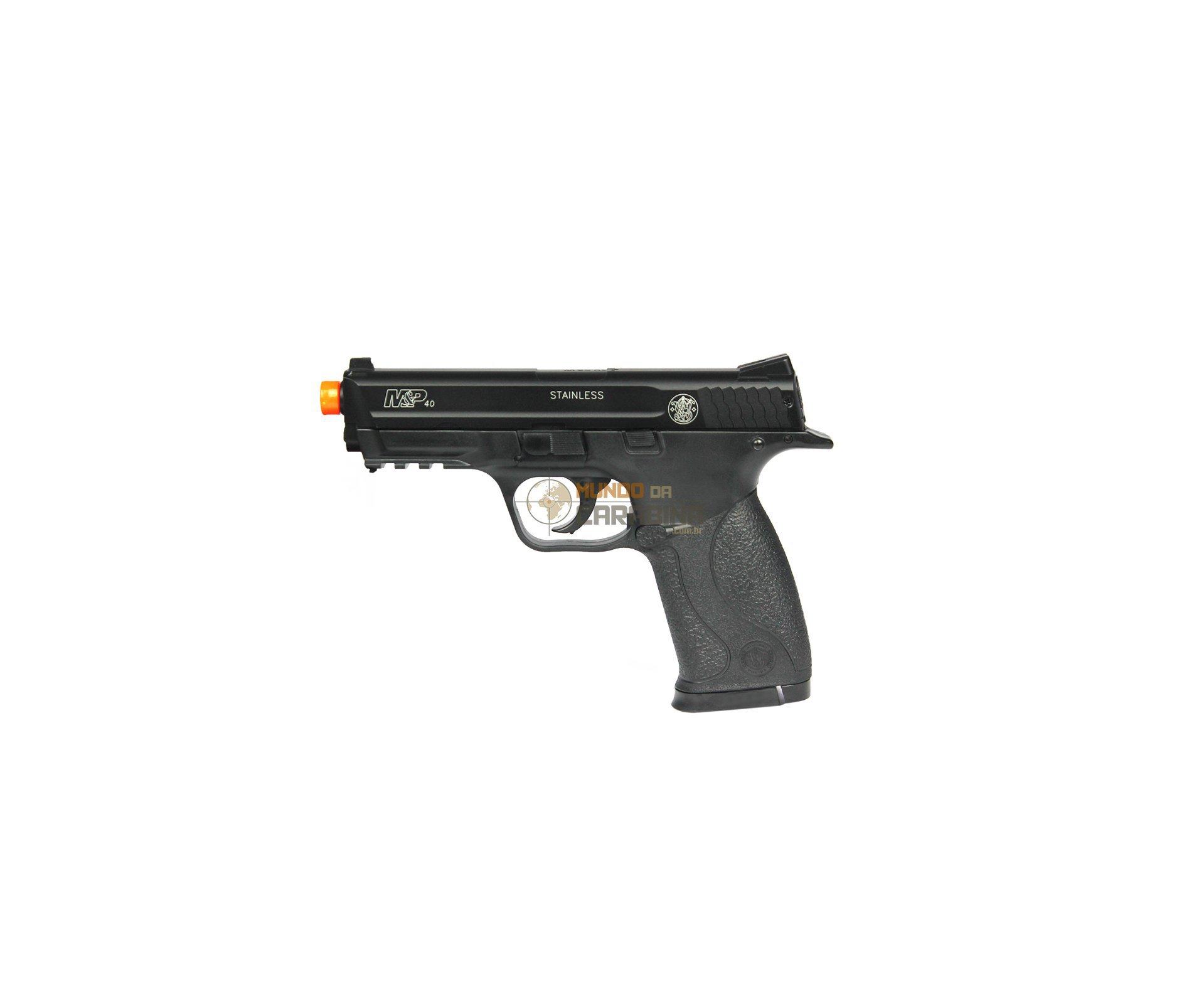 Pistola De Airsoft Smith&wesson Mp 40 Semi Metal + 4000 Esferas 0,12g + Capa Almofadada - Cyber Gun