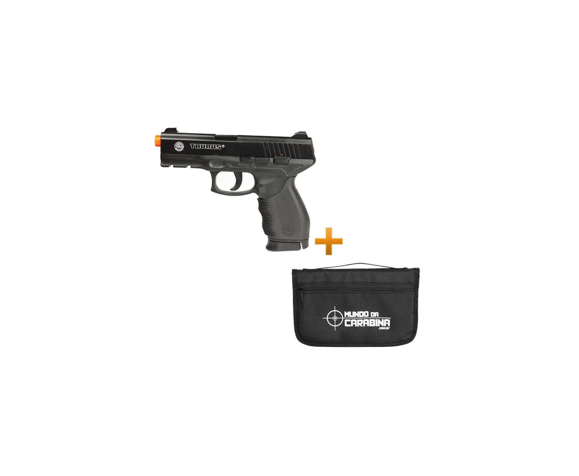 Pistola De Airsoft Taurus 24/7 Spring + Capa Almofada Especial