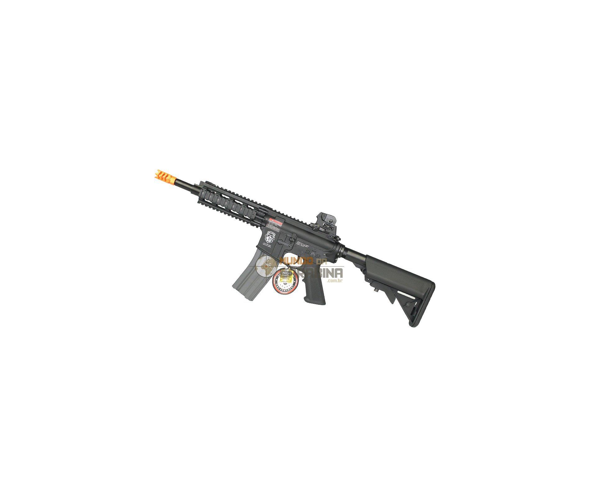 Rifle De Airsoft Gr16 Cqw Rush Blowback G&g + Colete Chest Verde