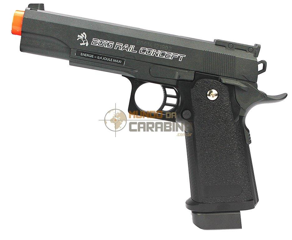 Pistola De Airsoft Colt 2013 Rail Concept Full Metal - Cybergun