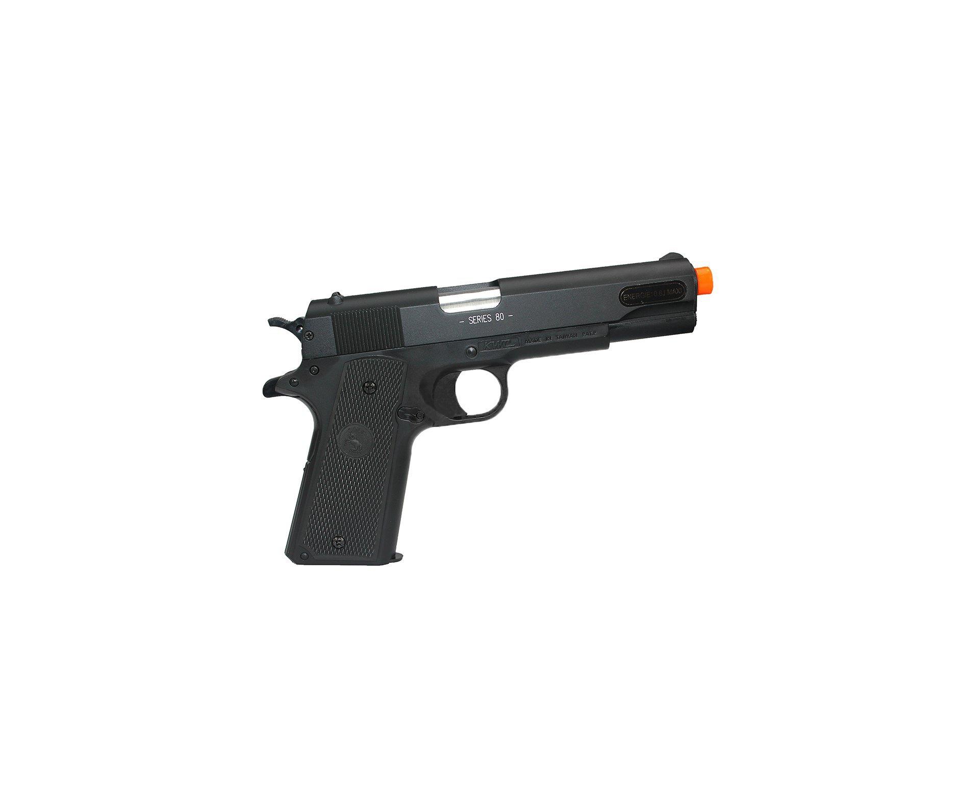 Pistola De Airsoft Colt 1911 A1 - Semi Metal - Calibre 6,0 + 4000 Esferas 0,12g + Capa Especial