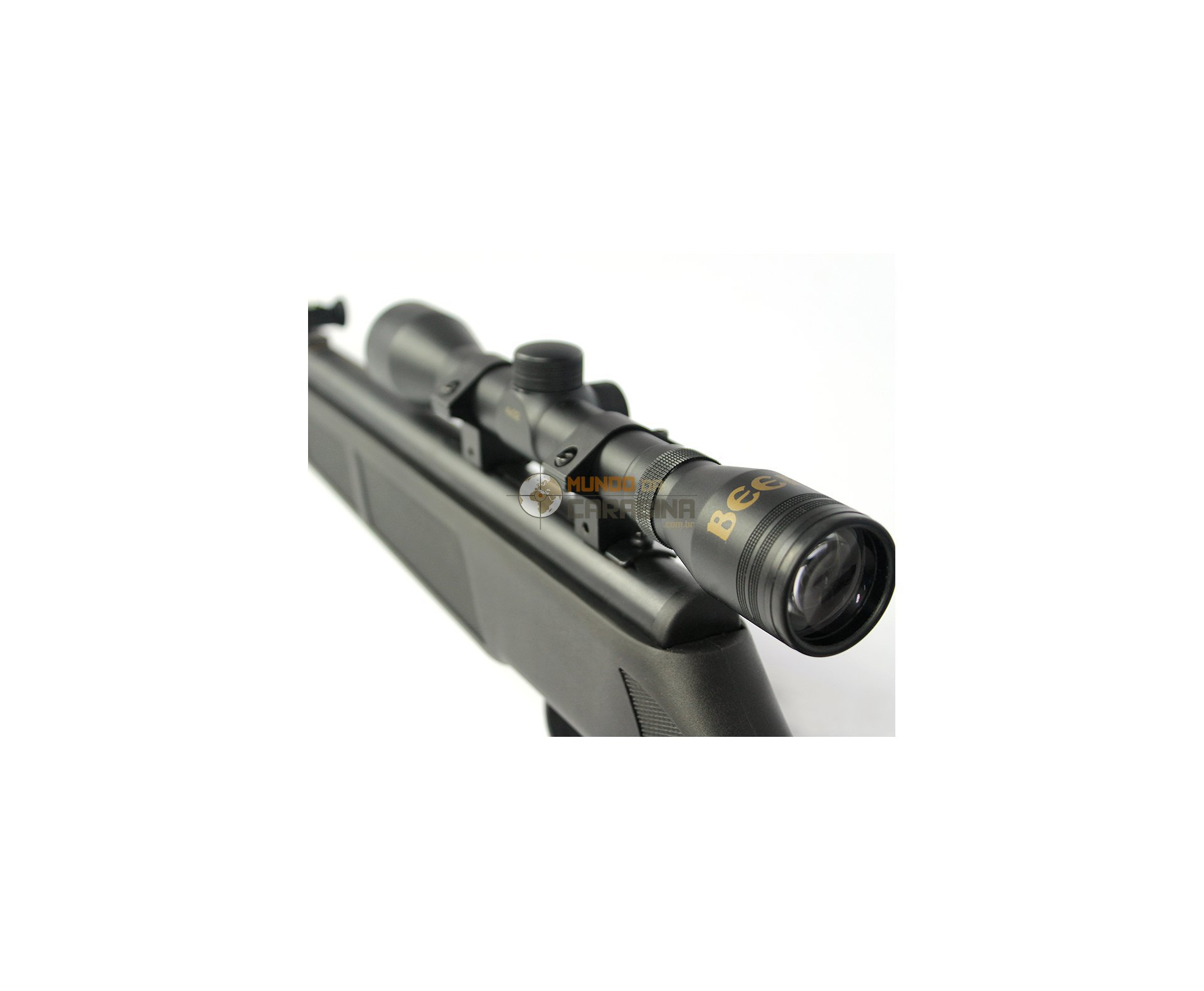 "Carabina De Pressão Beeman 1074 - Calibre 4,5 E 5,5 Mm + Luneta E Capa 52"" - Rossi"