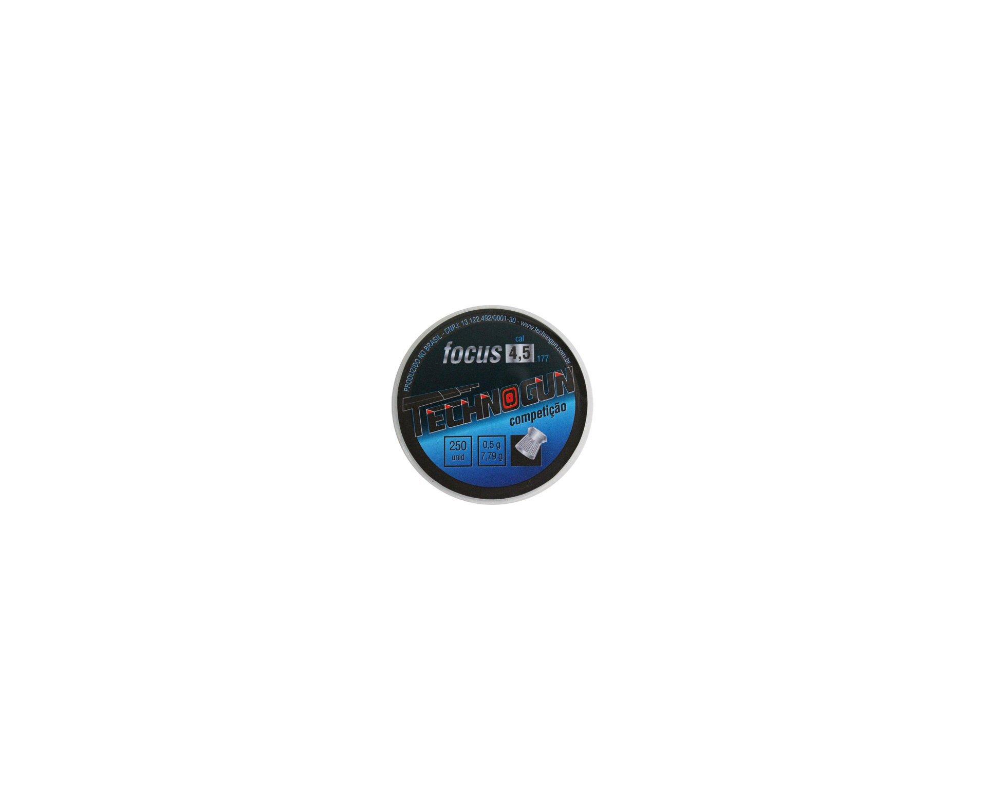 Chumbinho Focus Calibre 4,5 Mm - Com 250 Unid - Technogun