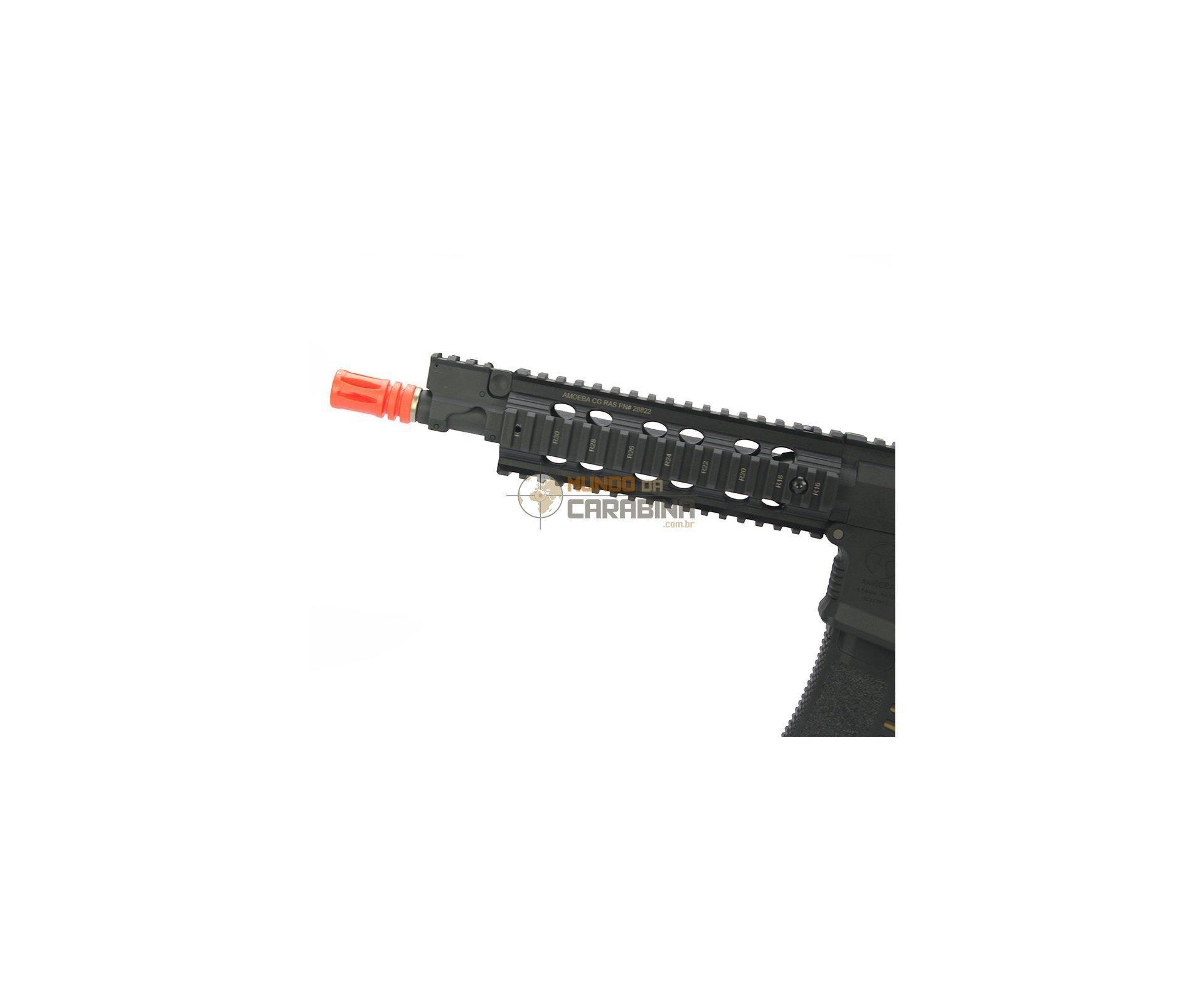 Rifle De Airsoft M4 Cqb Ris Amoeba Am-008-bk - Cal 6.0mm - Ares