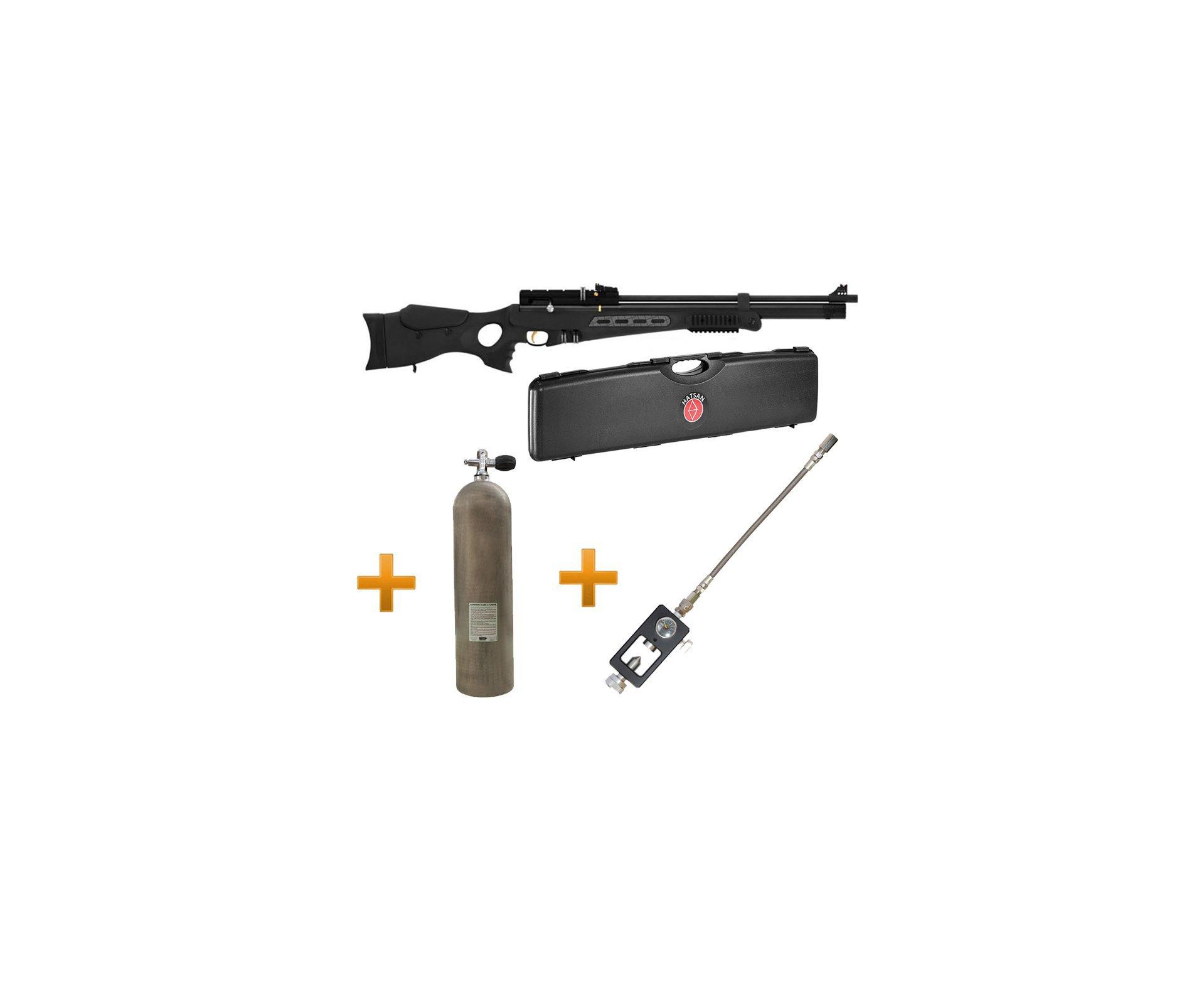 Carabina Pcp Hatsan Bt65sb Elite 5,5 + Case + Scuba 11,1lts + Adaptador Recarga