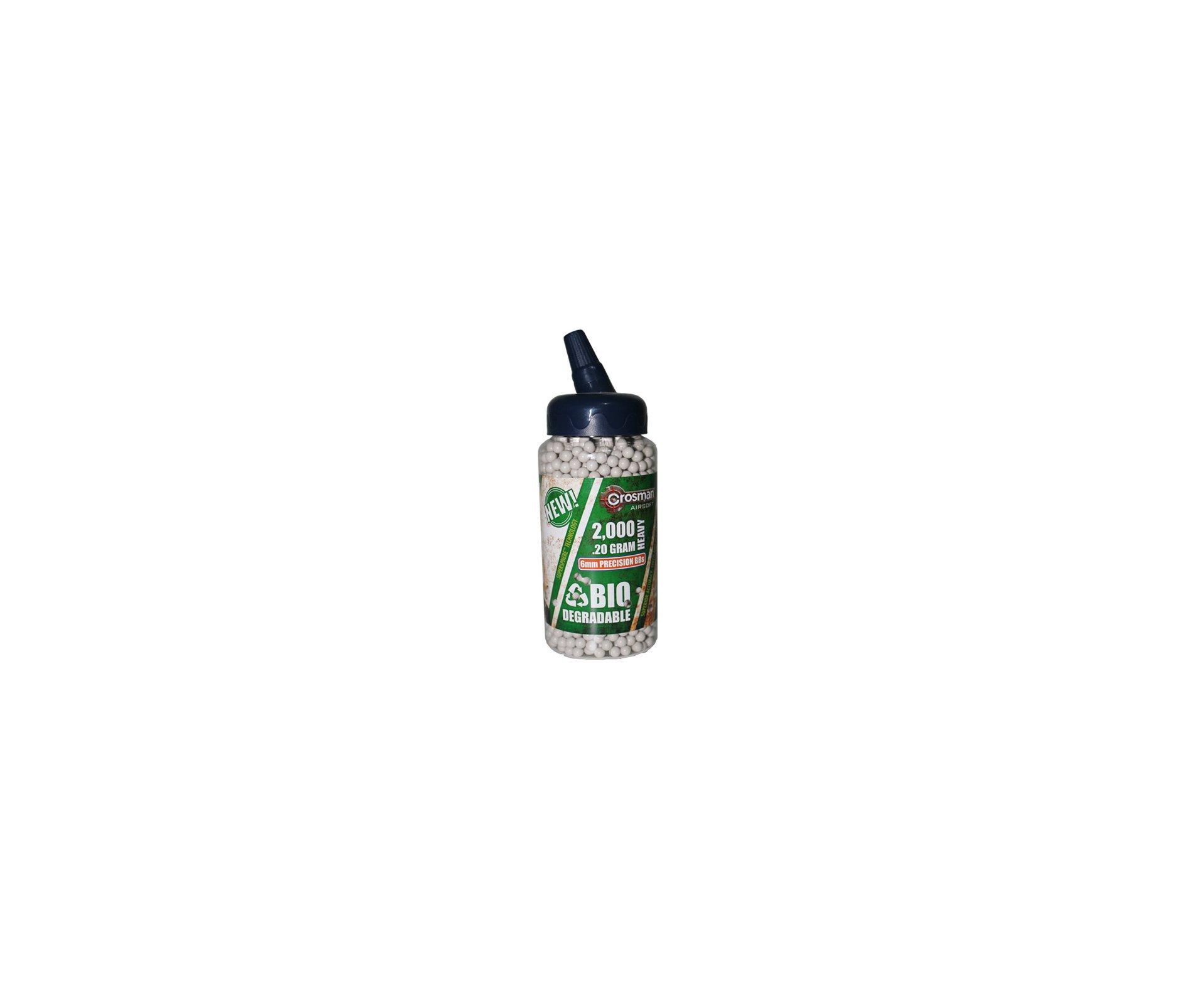 Esfera Plástica Verde Biodegradável - 2000 Unidades / 0,20 G - Crosman