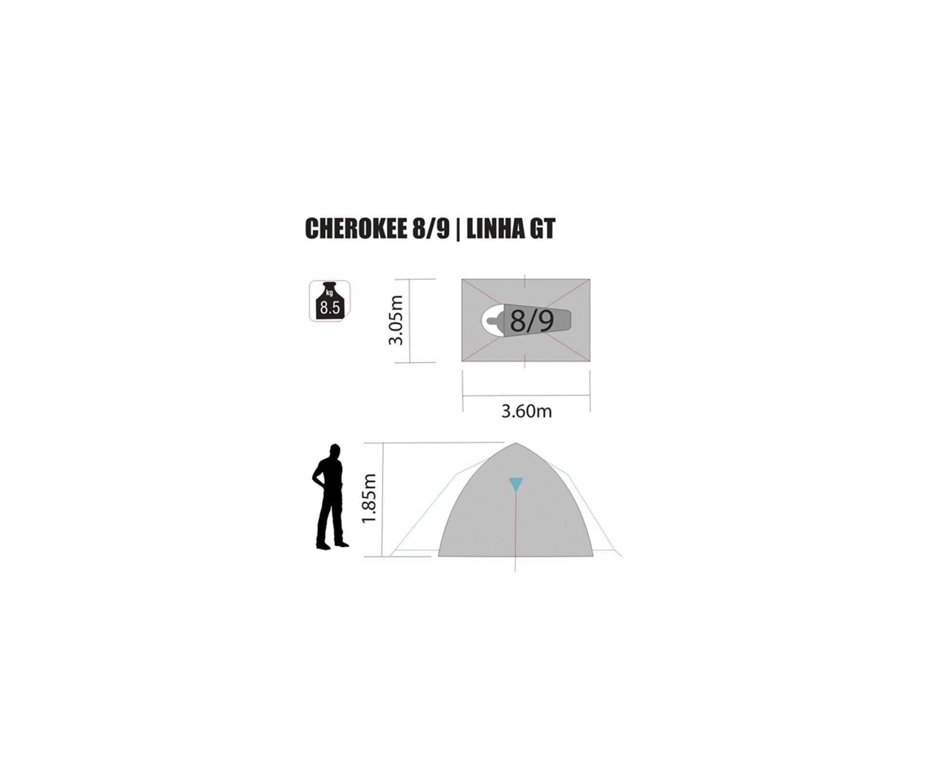 Barraca Cherokee Gt 8/9 Pessoas - Nautika