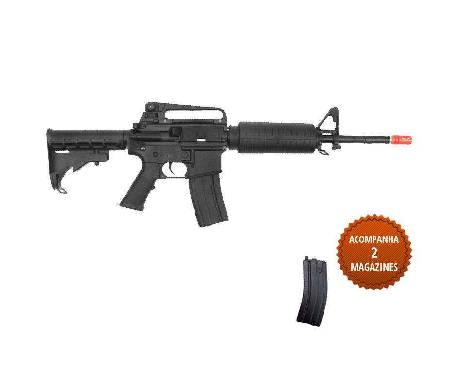 Rifle De Airsoft Colt M4a1 - Carbine - Elétrico - Plast Bb 6mm (cyber Gun)