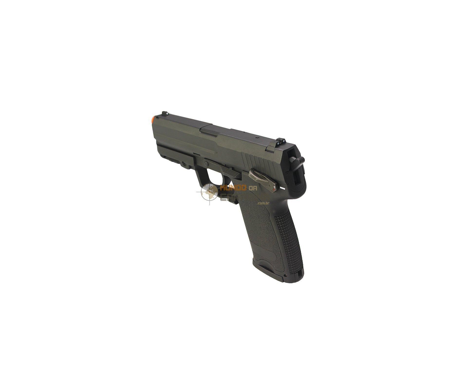 Pistola De Airsoft Elétrica Usp Full Metal Cal 6.0mm Bivolt - Cyma