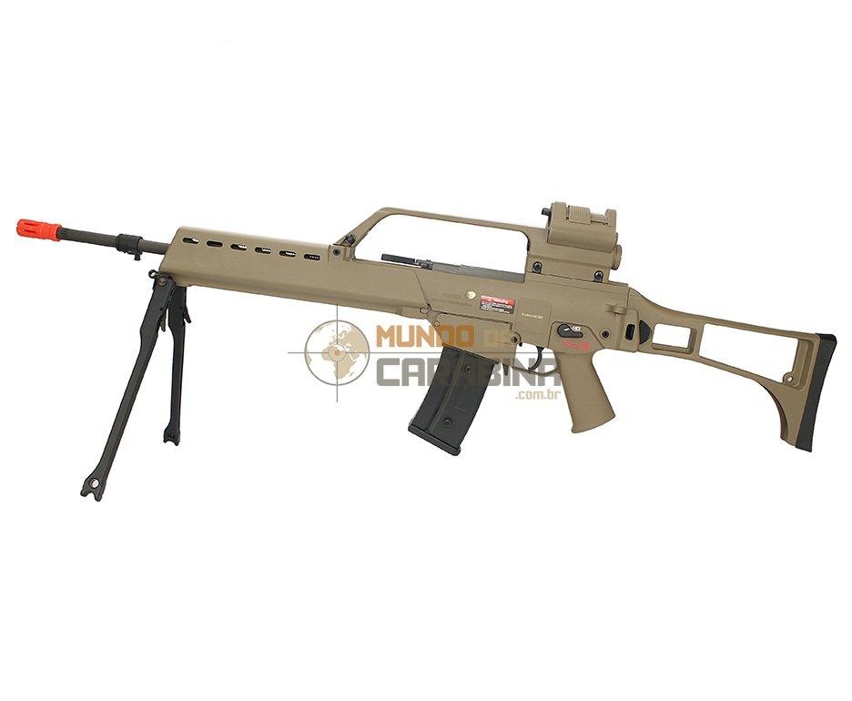 Rifle De Airsoft G36 Long Tan Blowback - Cal 6.0mm - Ares