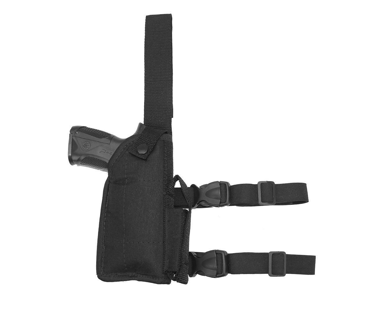 Coldre De Perna Para Pistola Com Regulagem Universal - Destro - Mundo Da Carabina