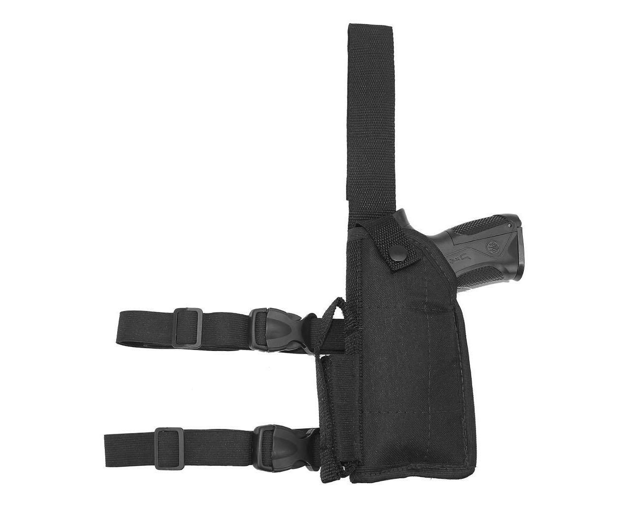 Coldre De Perna Para Pistola Com Regulagem Universal - Canhoto - Mundo Da Carabina