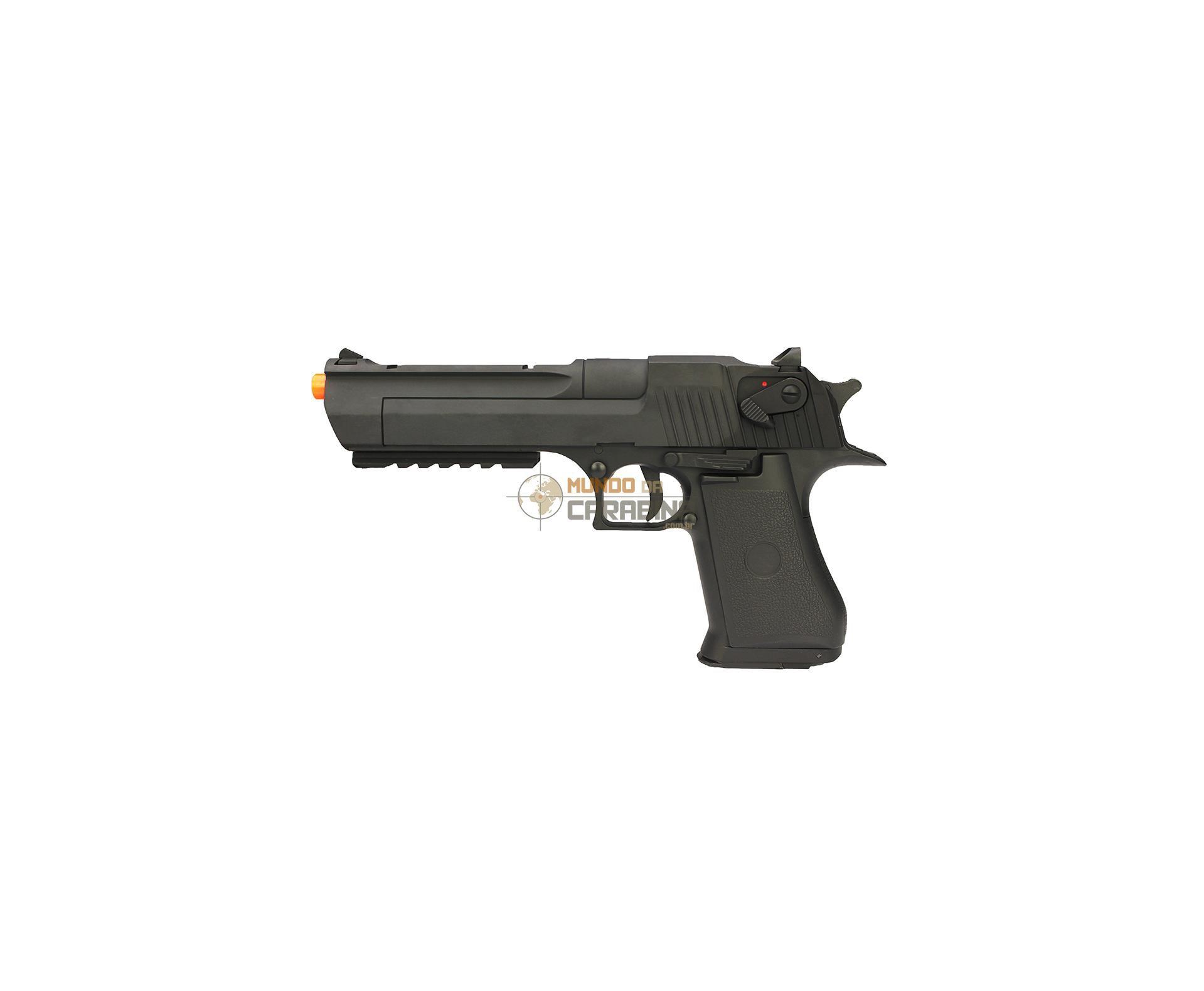 Pistola De Airsoft Desert Eagle .50 - Full Metal Elétrica- Calibre 6,0 Mm - Cyma  Cm 121 - Bivolt