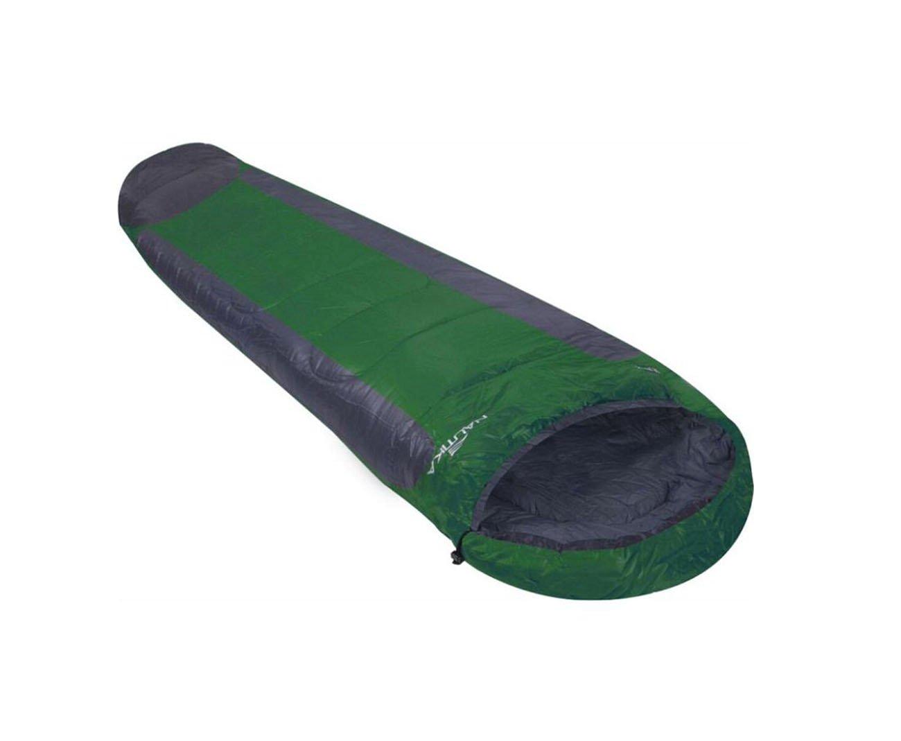 Saco De Dormir Nautika Modelo Mummy -1°c A +8°c Na Cor Preto Com Verde