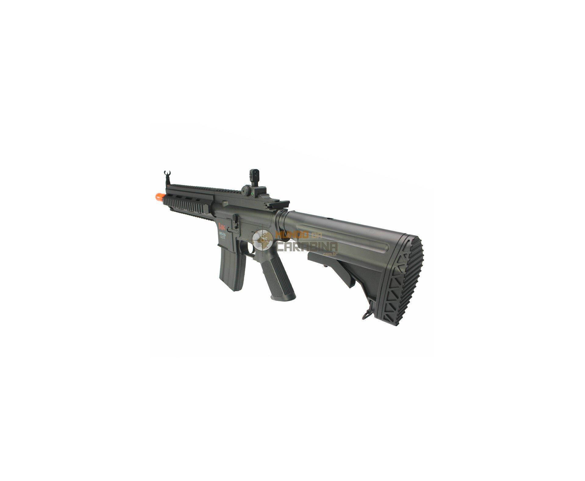 Rifle De Airsoft H&k Hk 416 Cqb Cal 6.0mm + Pistola 24/7 Co2 + Co2 + 4.000 Bbs 0,12g - Umarex