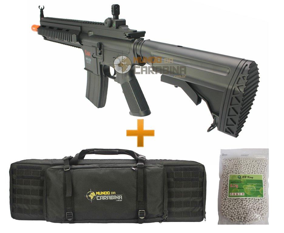 Rifle De Airsoft H&k Hk 416 Cqb - Cal 6.0mm   Case Especial   5000 Bbs 0,12g - Umarex