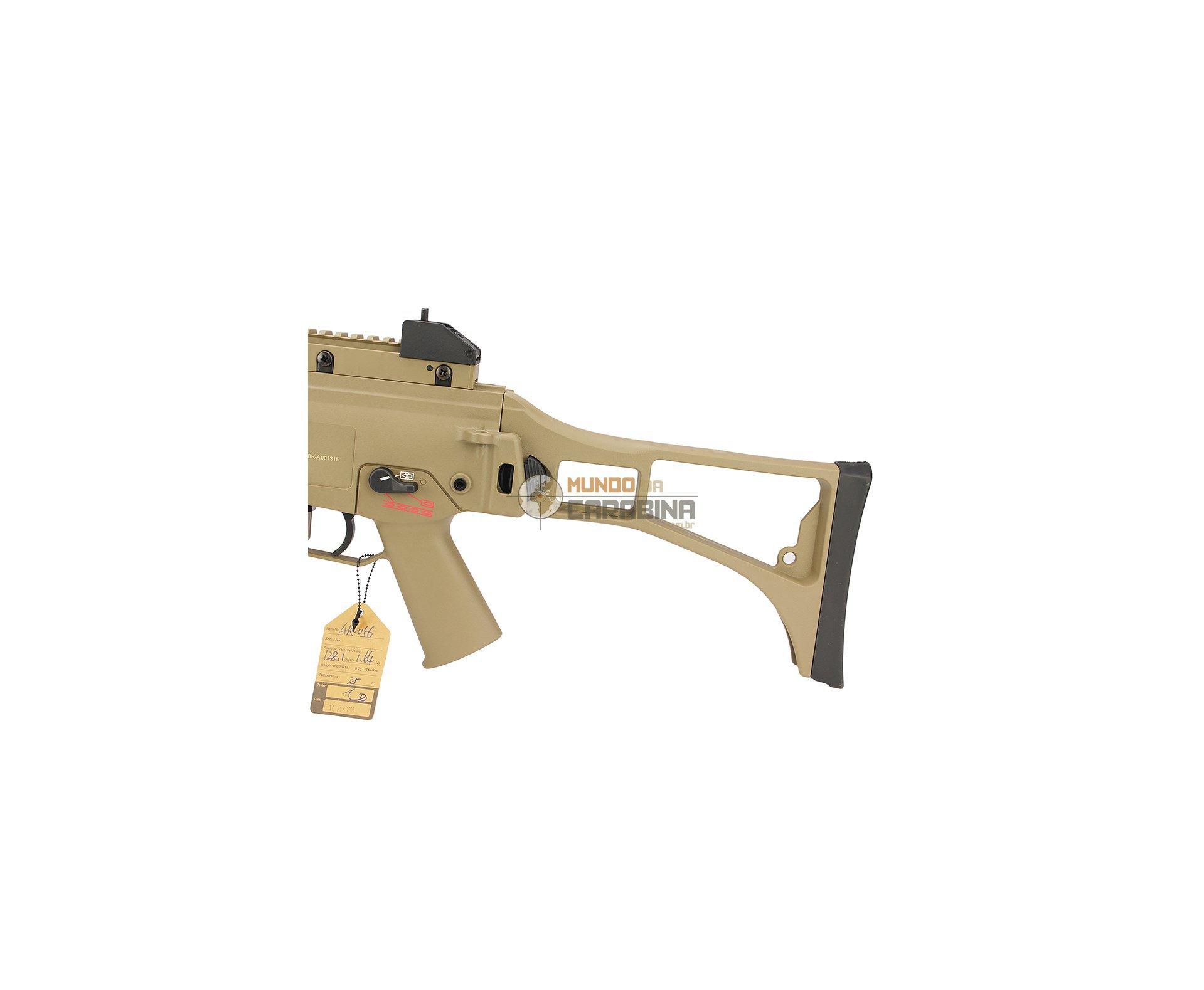 Rifle De Airsoft G36 Full Metal Blowback Tan - Cal 6.0mm - Ares