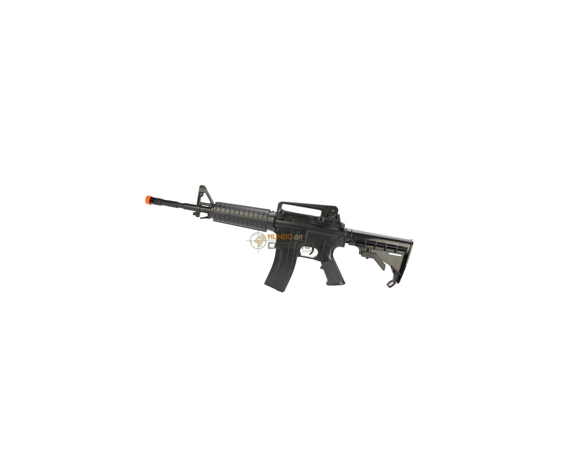 Rifle De Airsoftcolt  M4 A1 Spring + Bandoleira + 4000 Esferas 0,15g - Cyber Gun