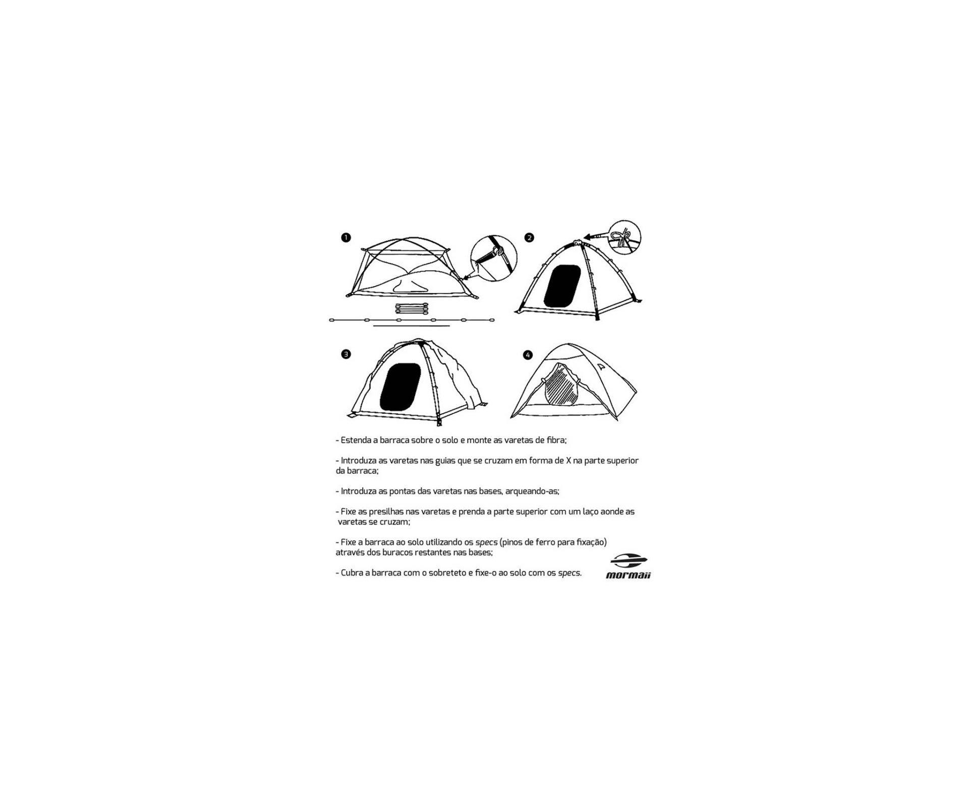 Barraca Biak 4 - Azul - Mormaii