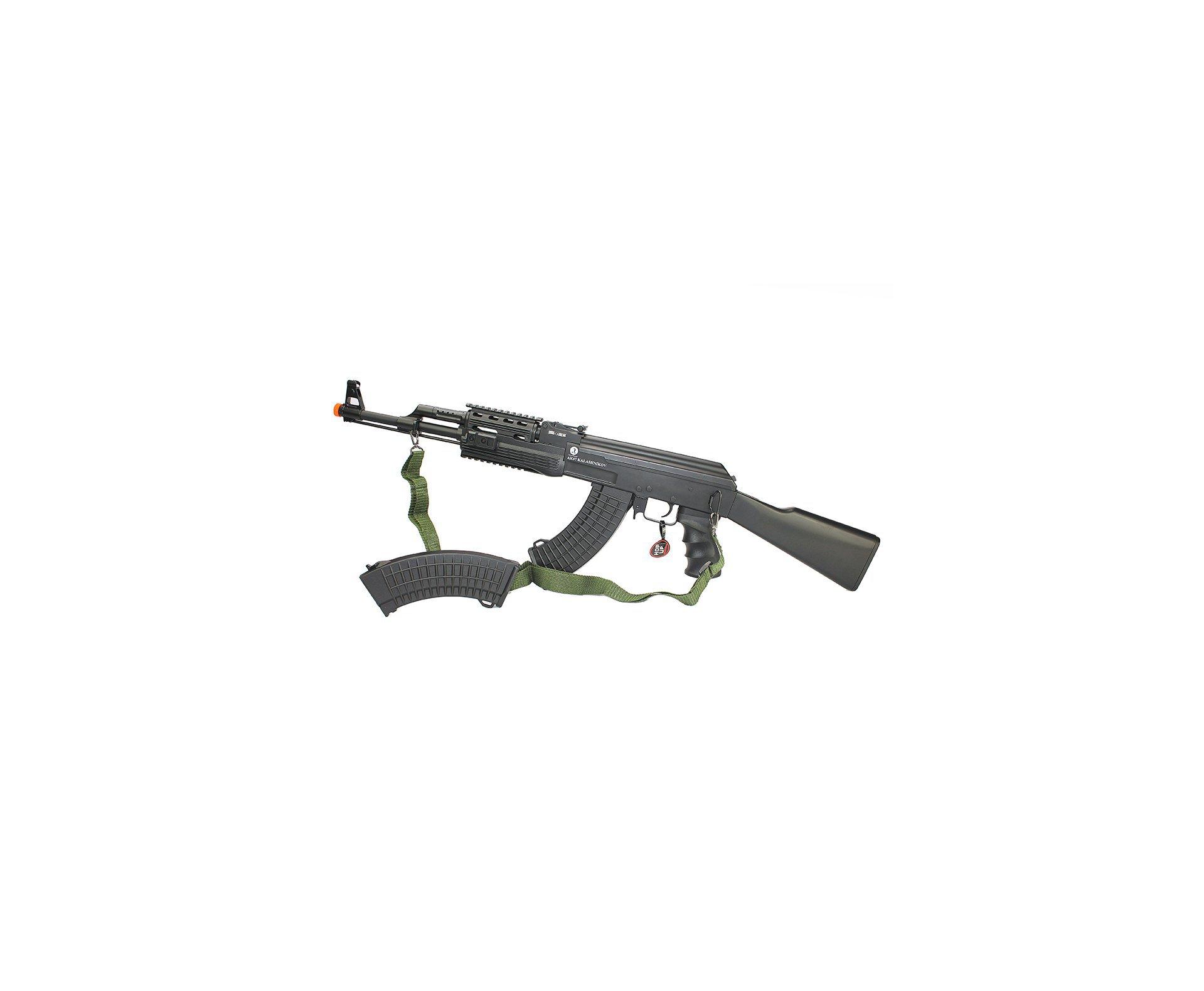 Rifle De Airsoft Ak 47 Tactical Fsv Full + 4000 Esferas 0,20g + Capa Airsoft Cybergun