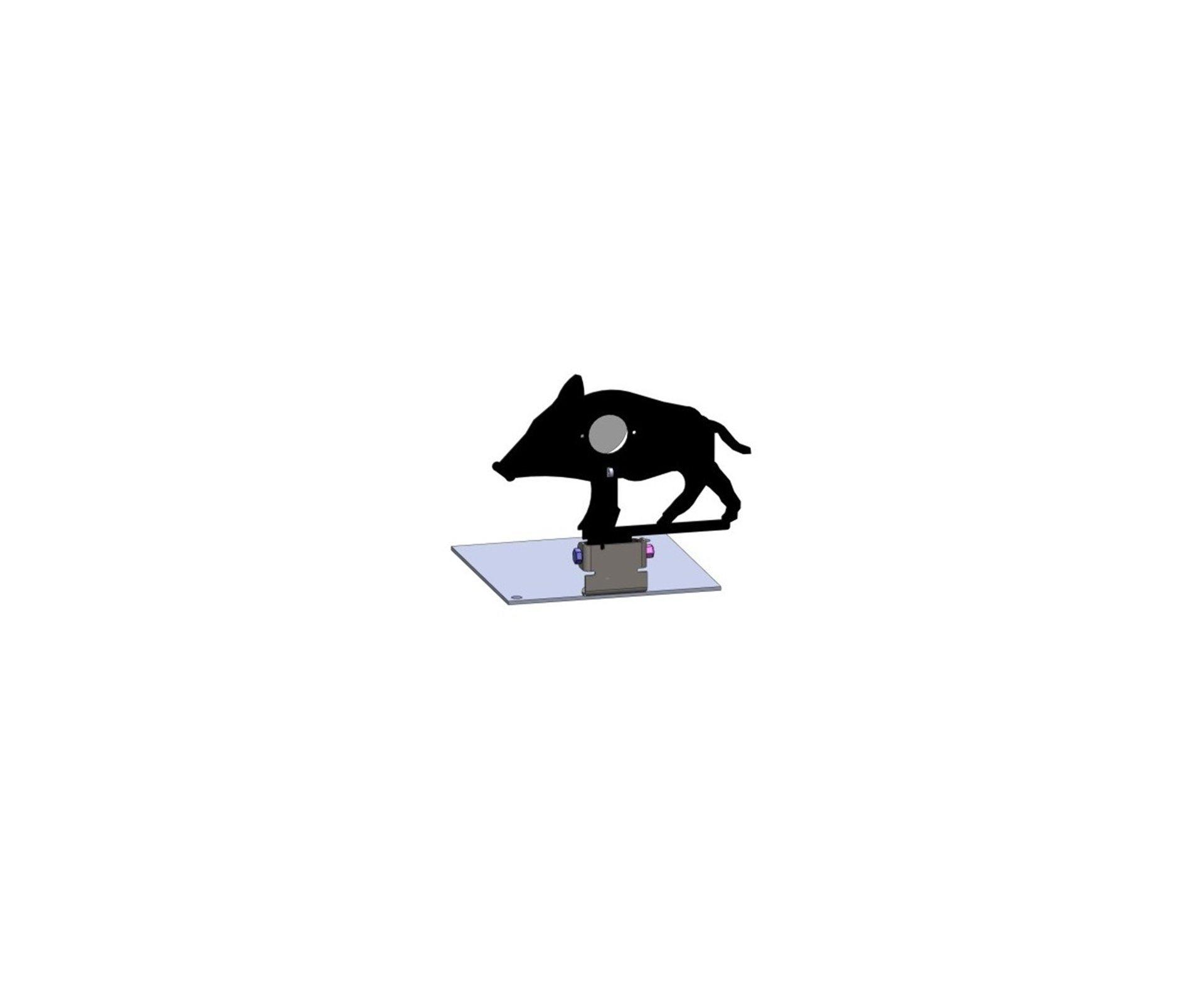 Alvo Metalico Para Field Target Animal - Javali