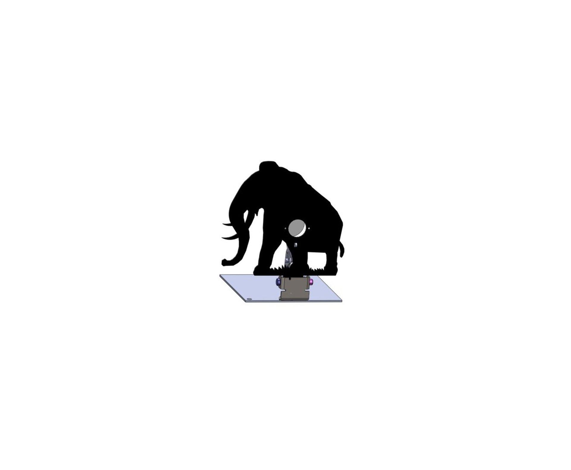Alvo Metalico Para Field Target Animal - Mamute
