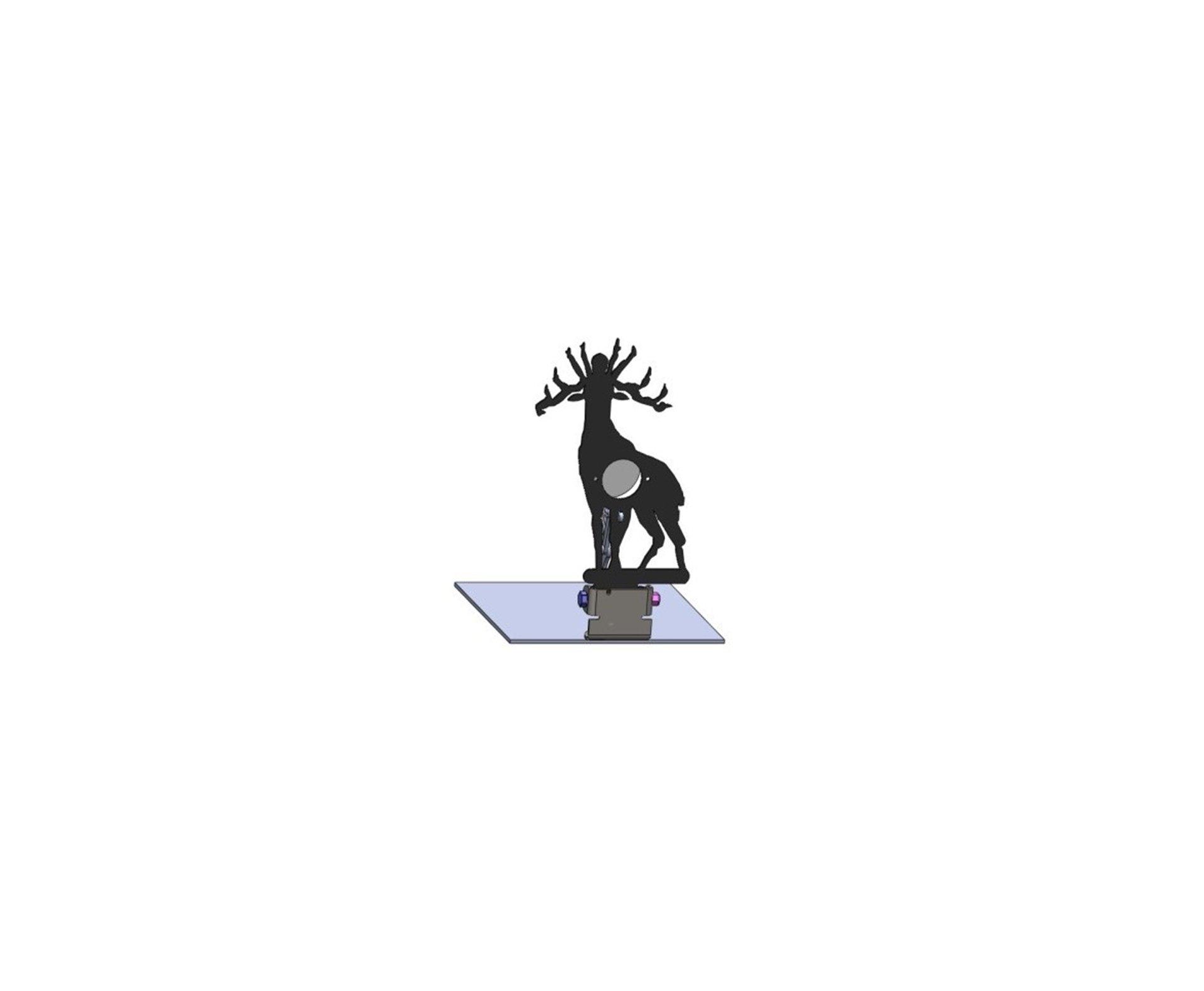 Alvo Metalico Para Field Target Animal - Alce